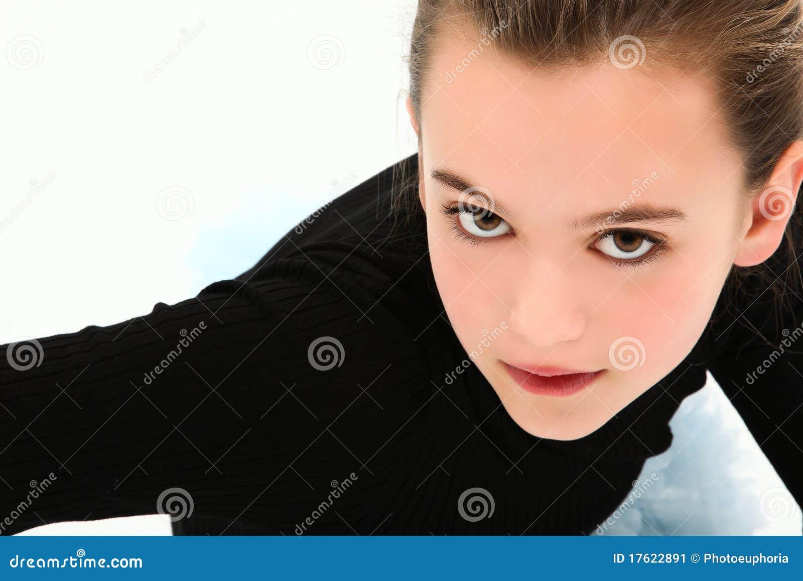 Dramatisch Tween Headshot Meisje