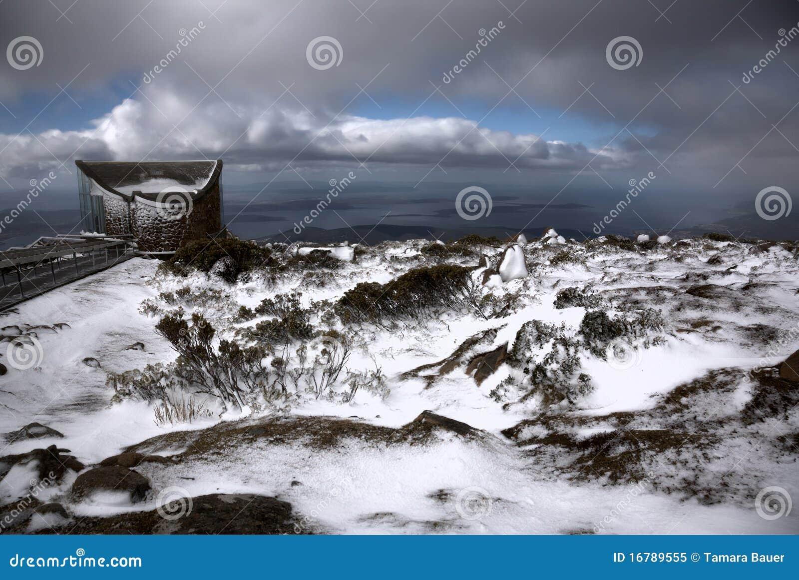Dramatische cloudscape, zet Wellington op