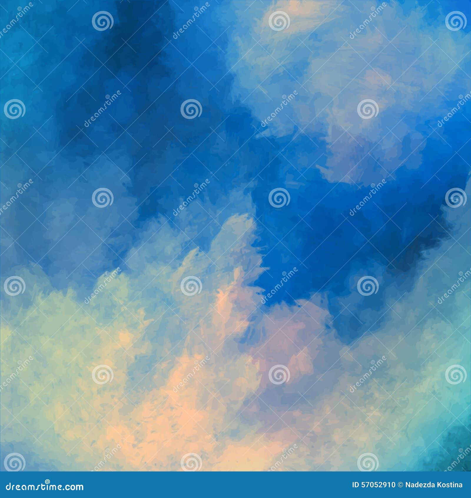 Dramatische Hemel die Vectorachtergrond schilderen