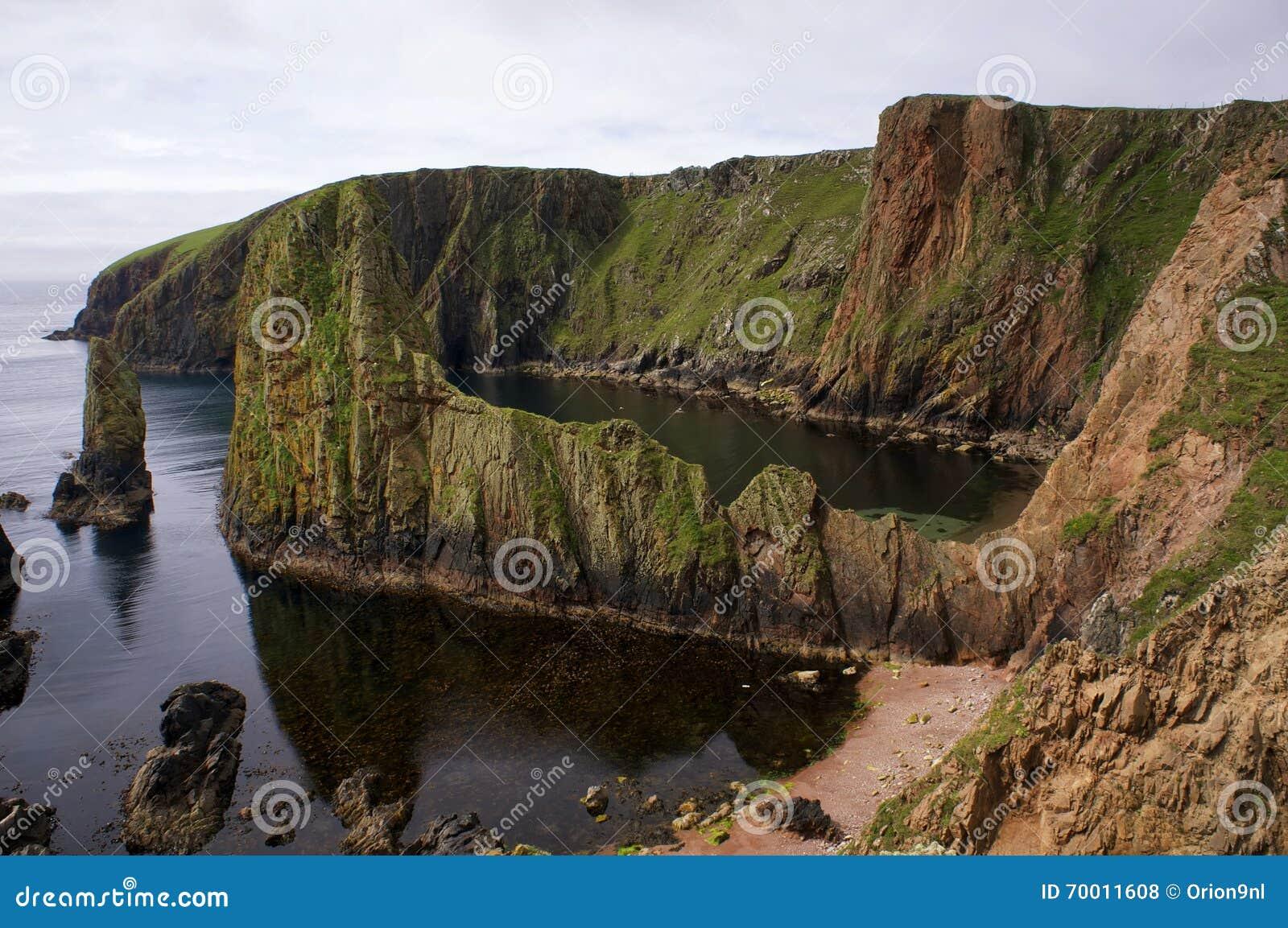Dramatische Kust van Westerwick (Shetland)