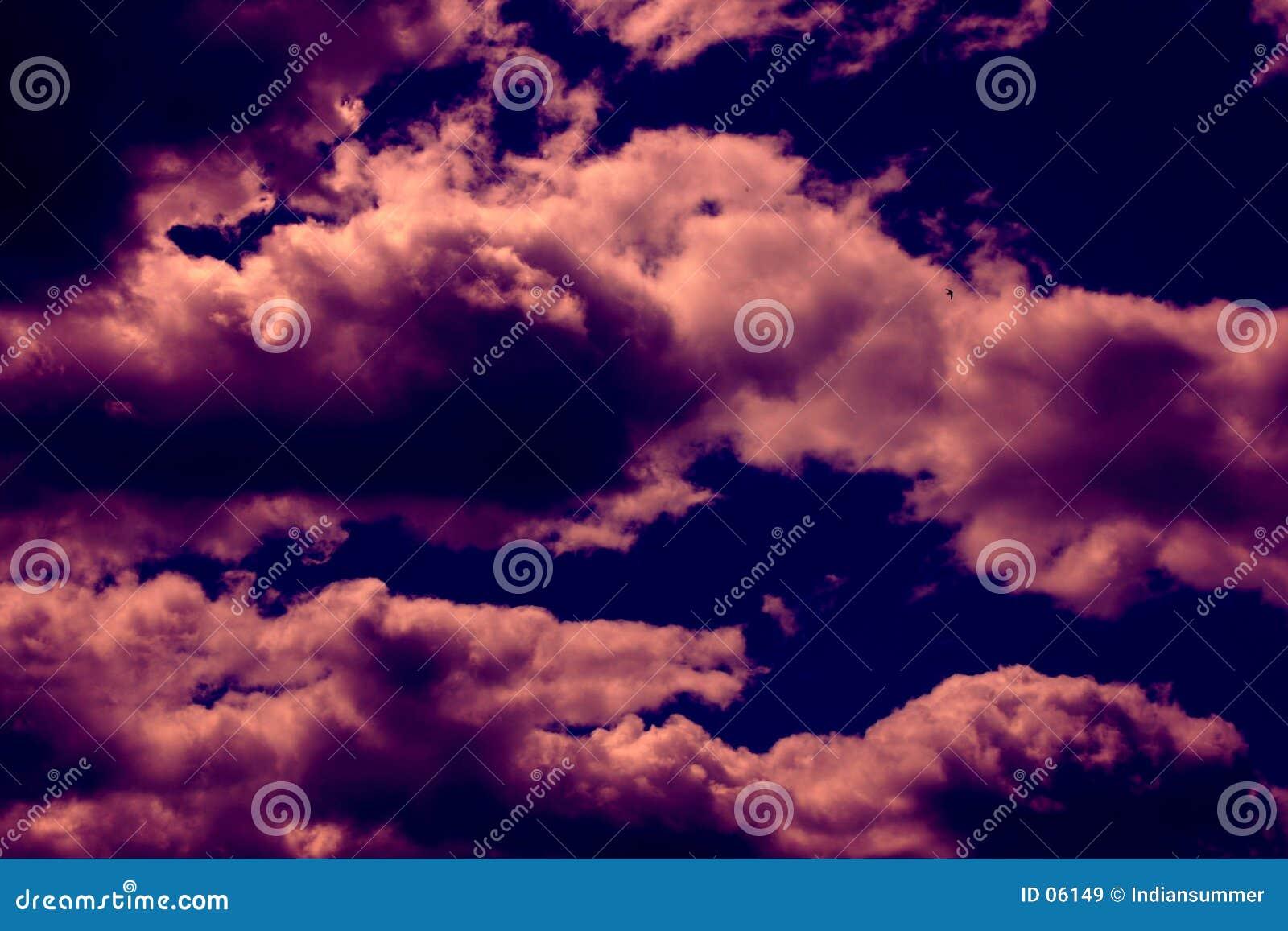 Dramatisk sky