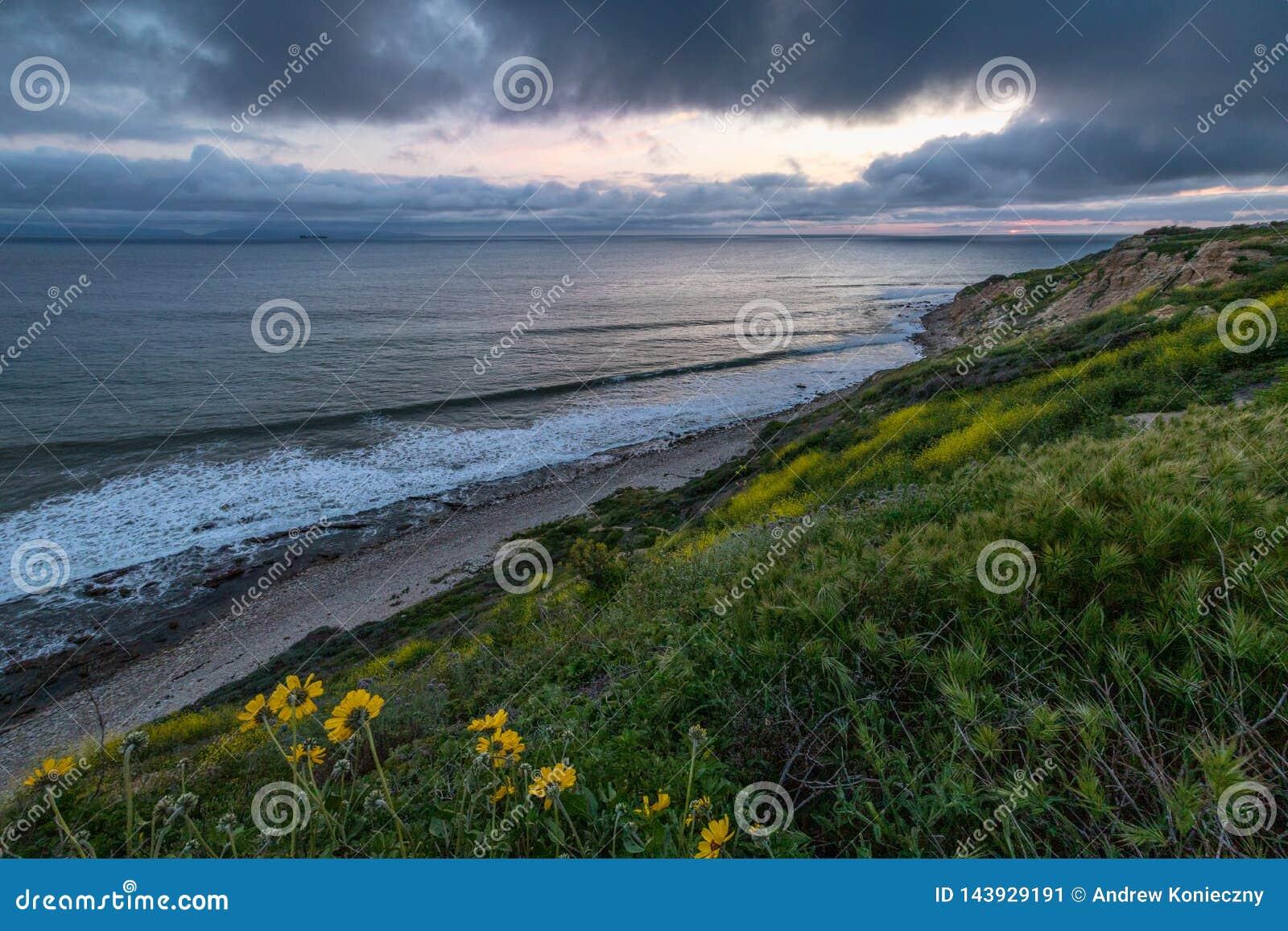 Dramatisk solnedgång på havslingareserven