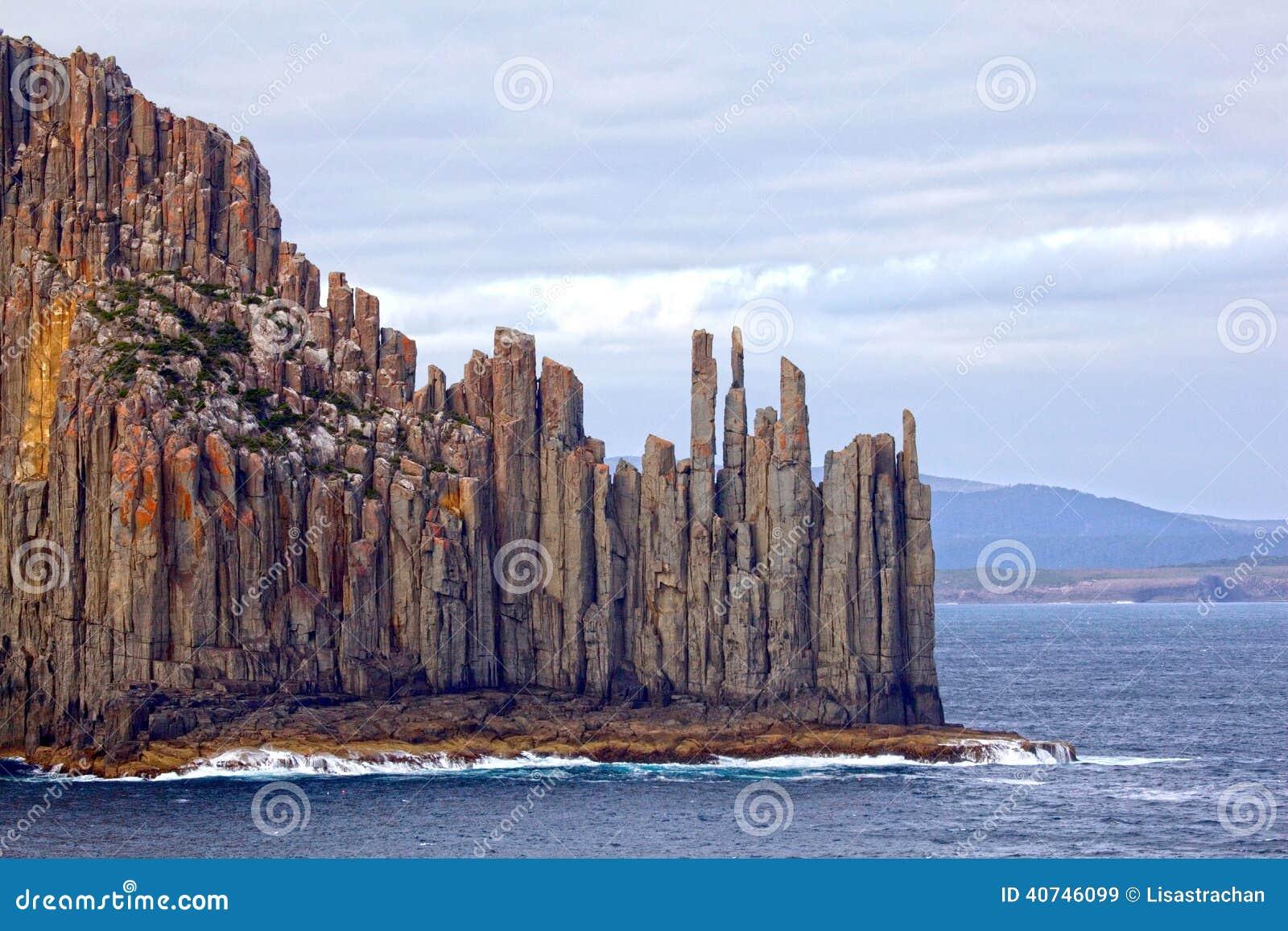 Dramatyczna Tasmanian linia brzegowa, Australia