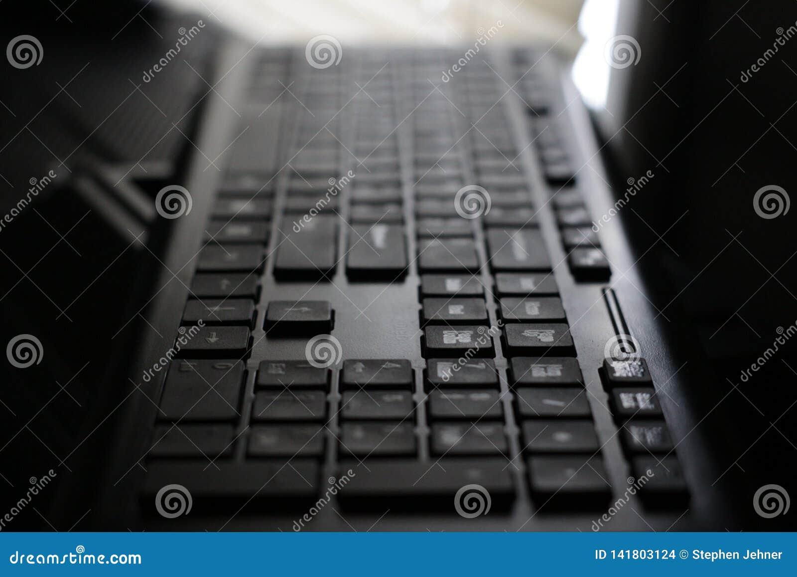 Dramatyczny widok komputerowa klawiatura