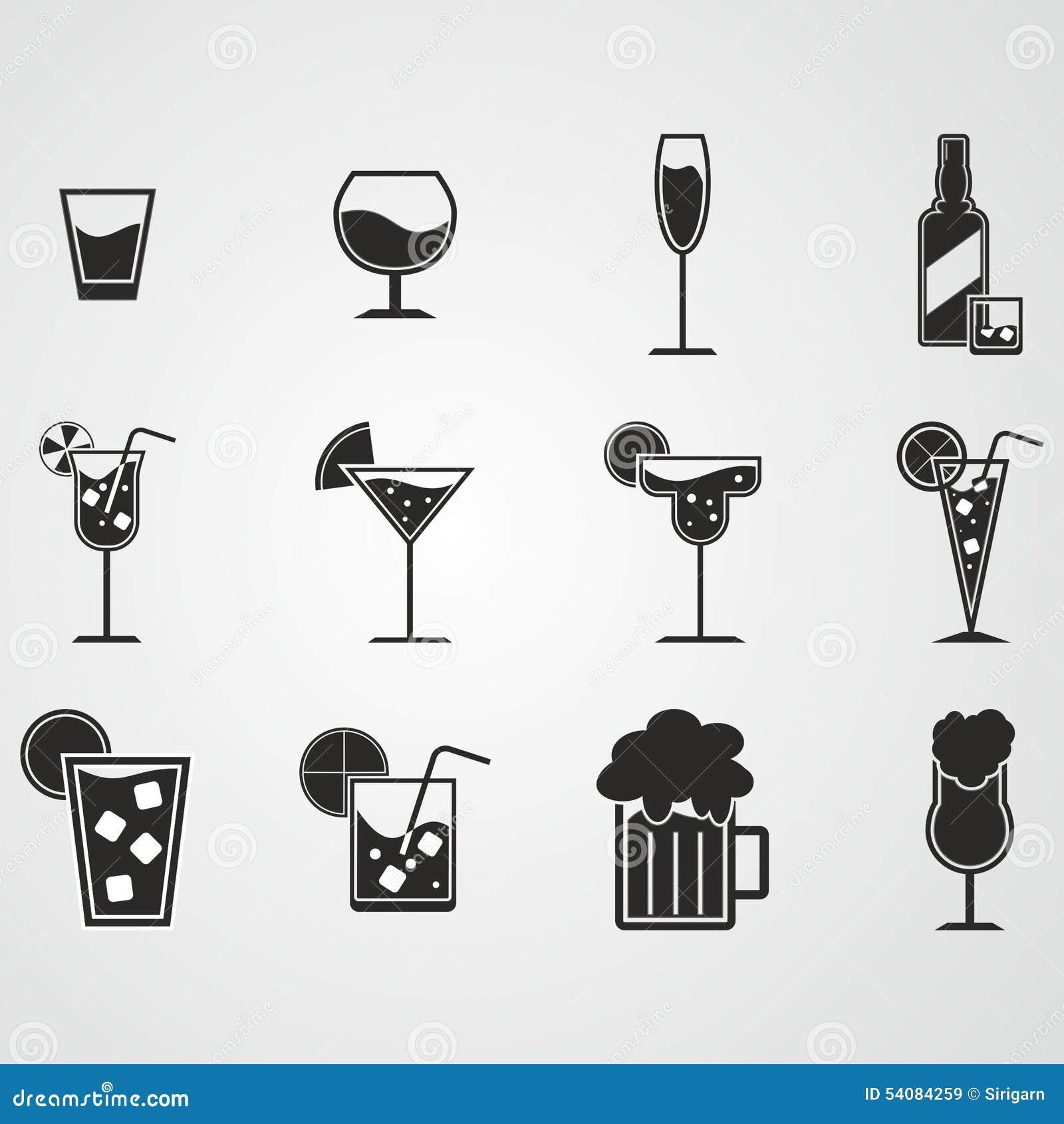 Drank en alcoholpictogramreeks