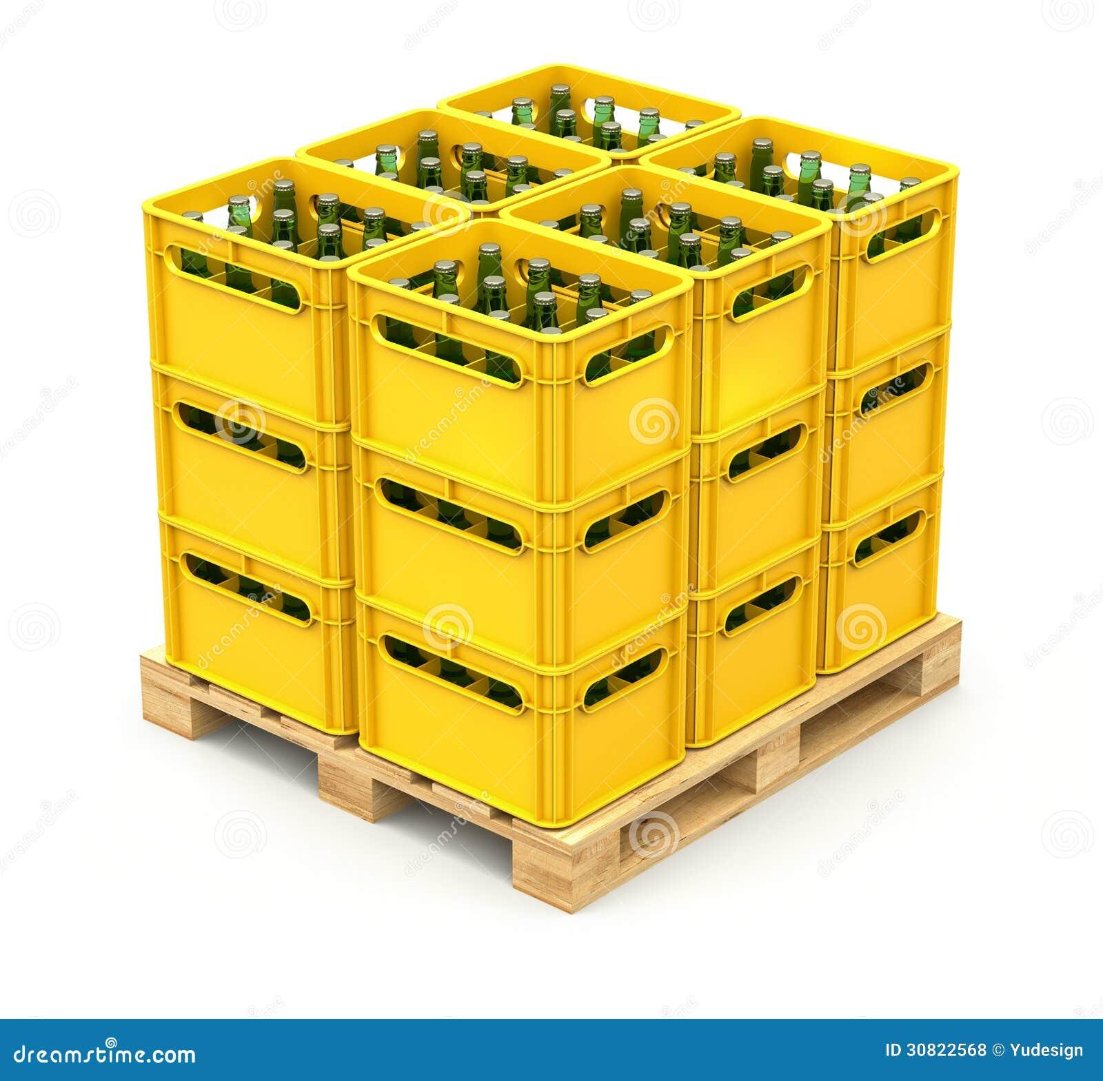 Drankkratten op de houten pallet royalty vrije stock foto 39 s afbeelding 30822568 - Foto houten pallet ...