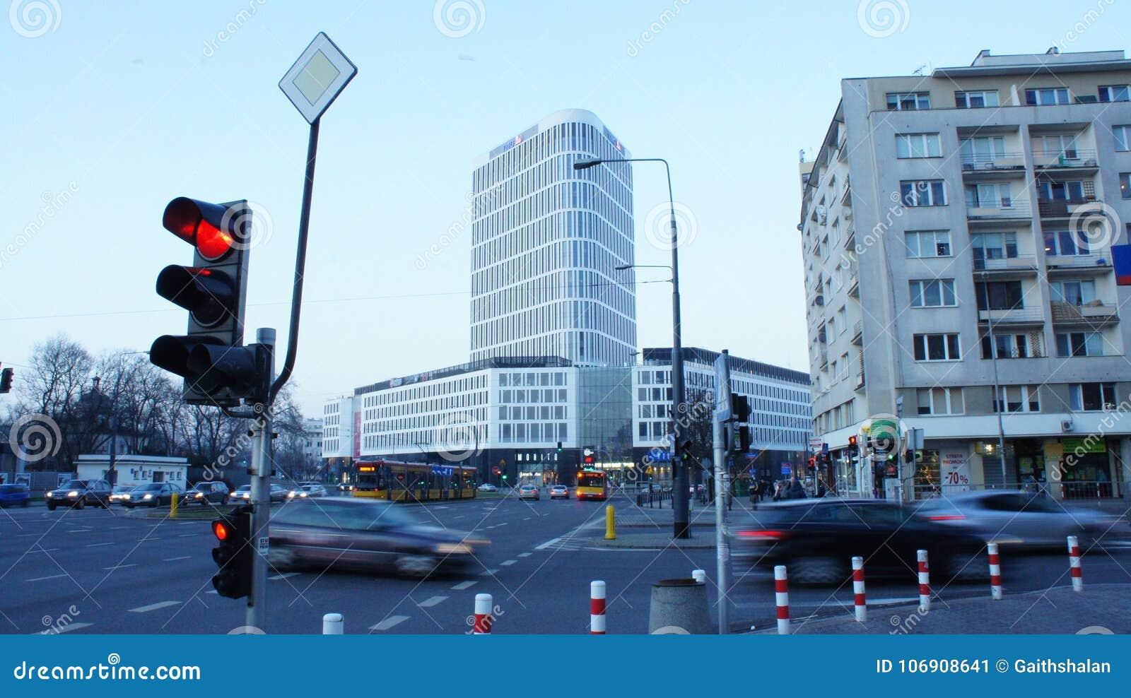 Drapacze chmur w centrum miasta Warszawa