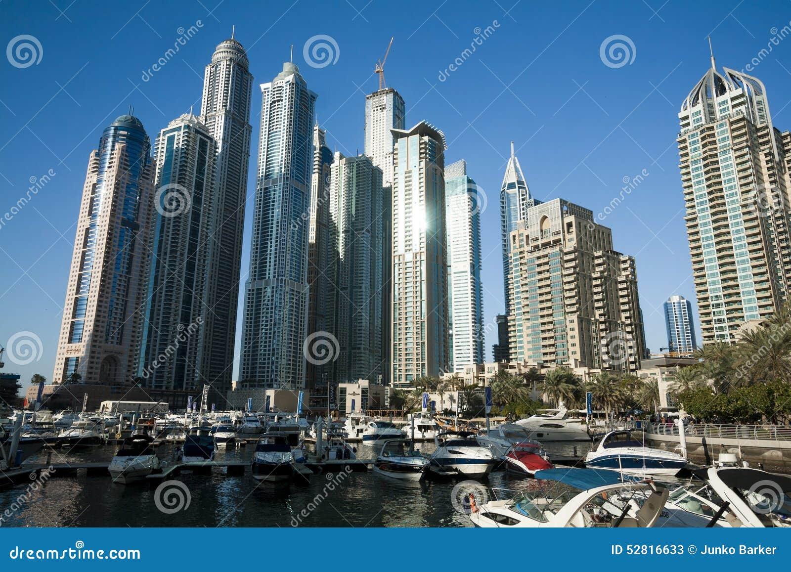Drapacze chmur, wysocy budynki w Dubaj, UEA