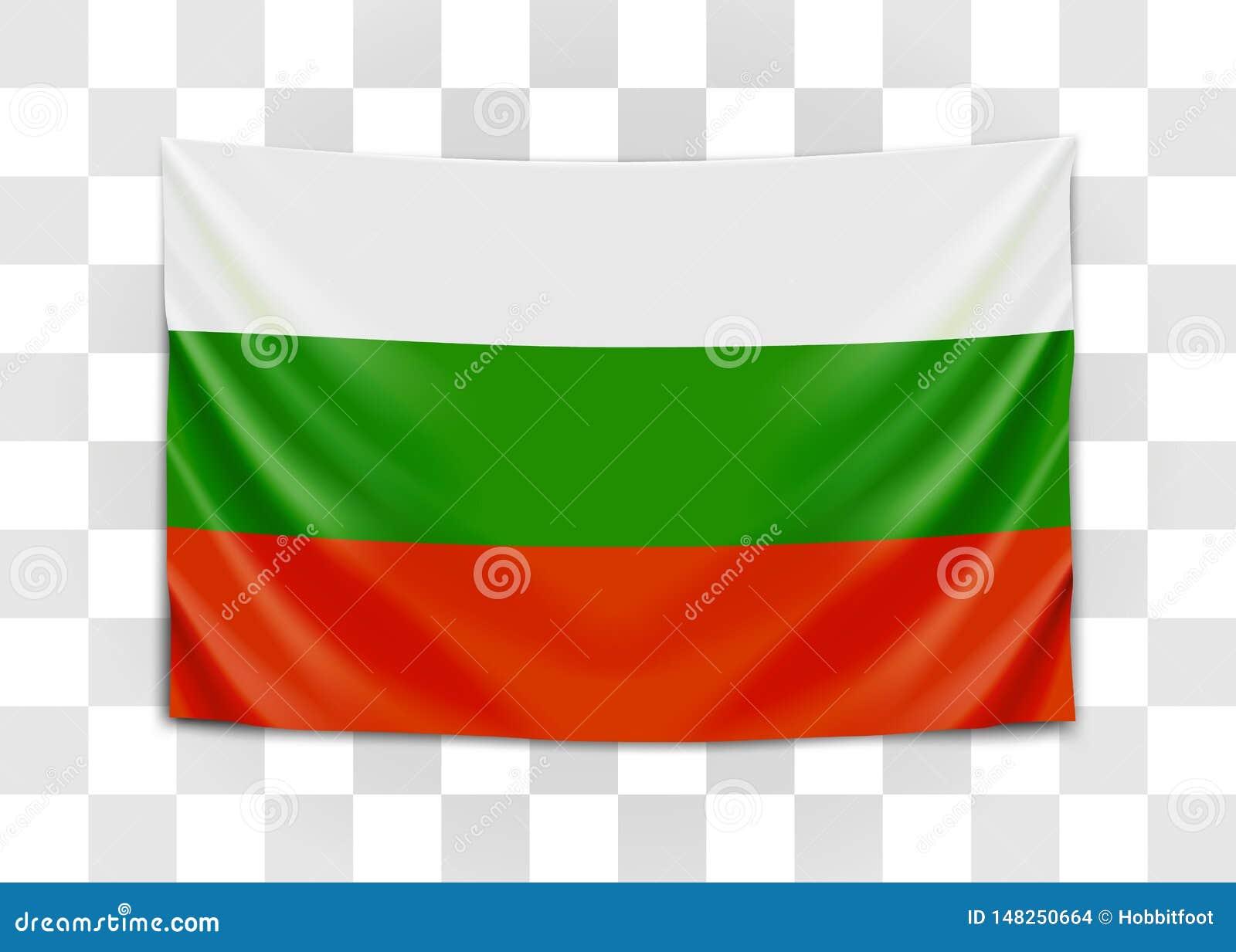 Drapeau accrochant de la Bulgarie La r?publique de Bulgarie Concept de drapeau national