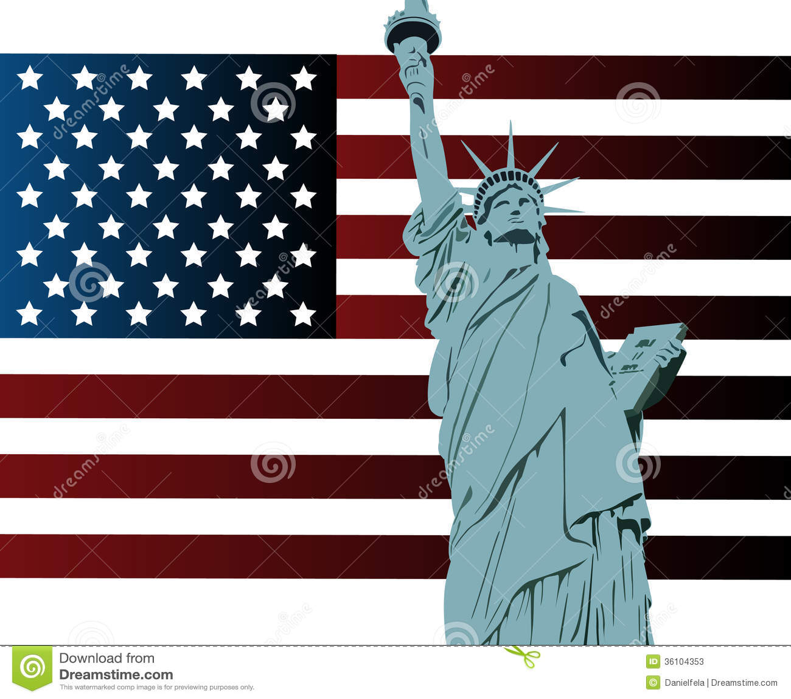 drapeau am ricain et statue de la libert photos stock. Black Bedroom Furniture Sets. Home Design Ideas