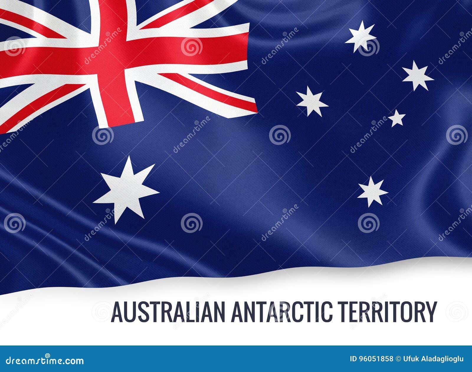 Drapeau antarctique australien de territoire d état australien