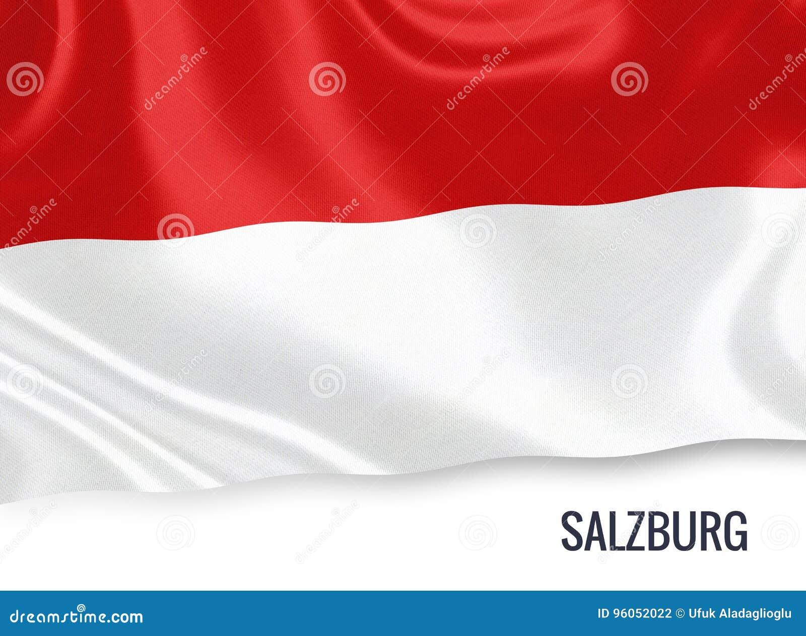 Drapeau autrichien de Salzbourg d état