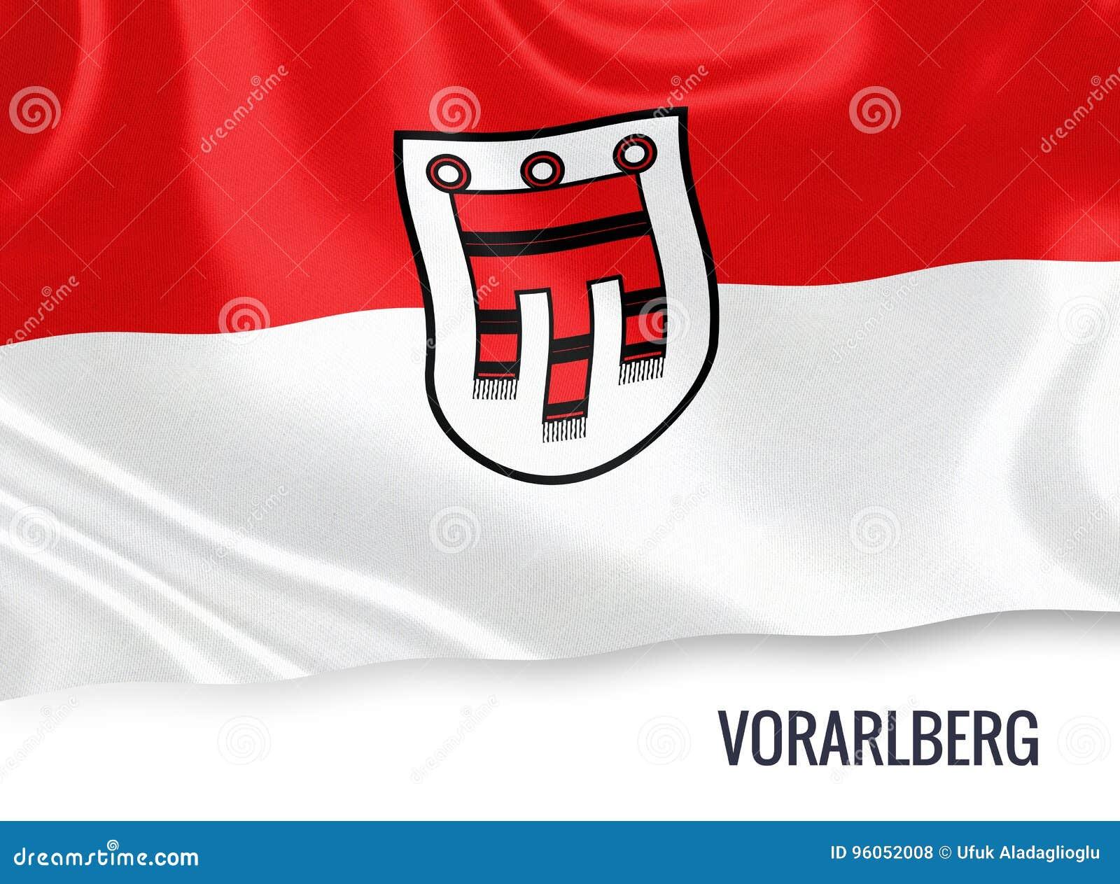 Drapeau autrichien de Vorarlberg d état