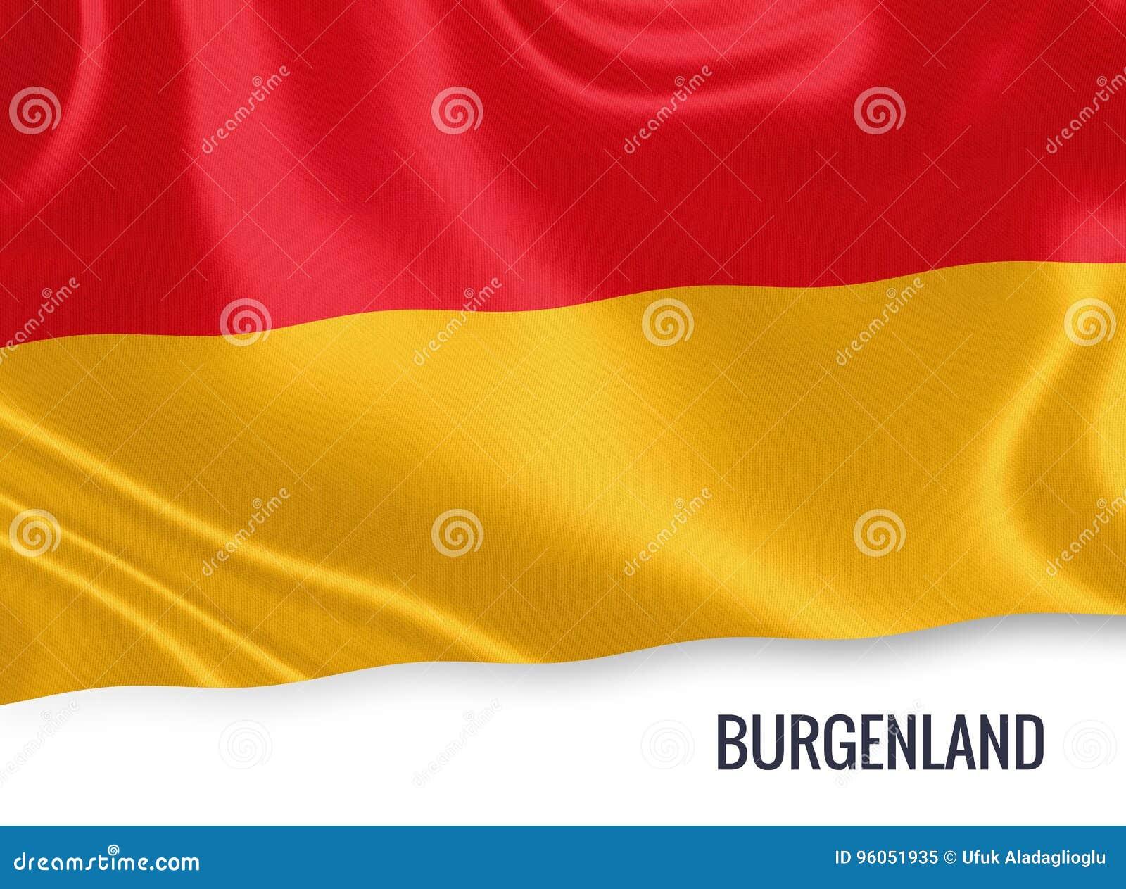 Drapeau autrichien du Burgenland d état