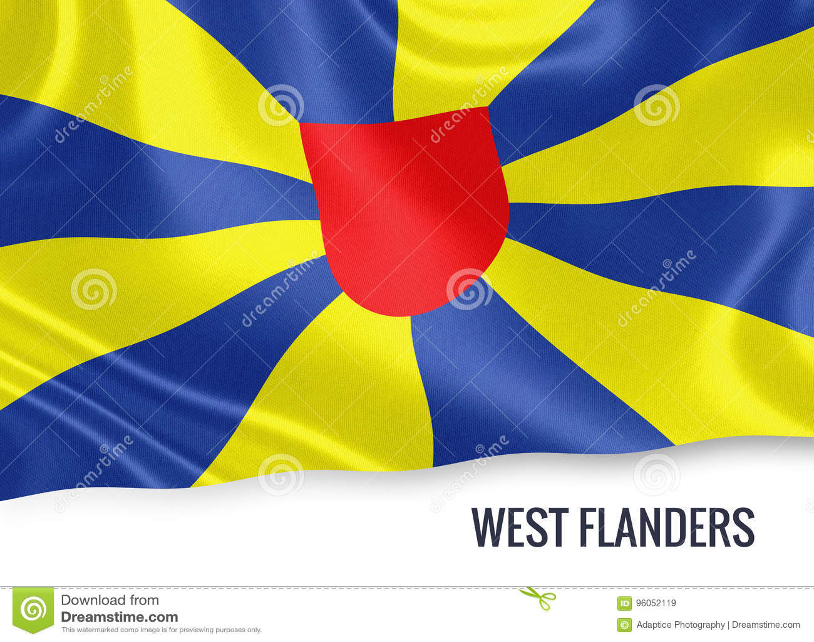 Drapeau belge de la Province de Flandre-Occidentale d état