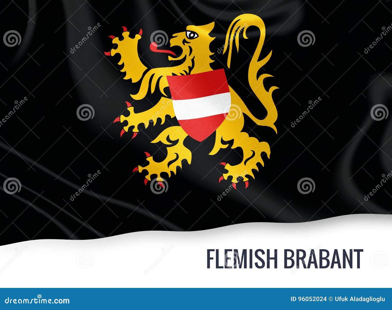 Drapeau belge du Brabant flamand d état