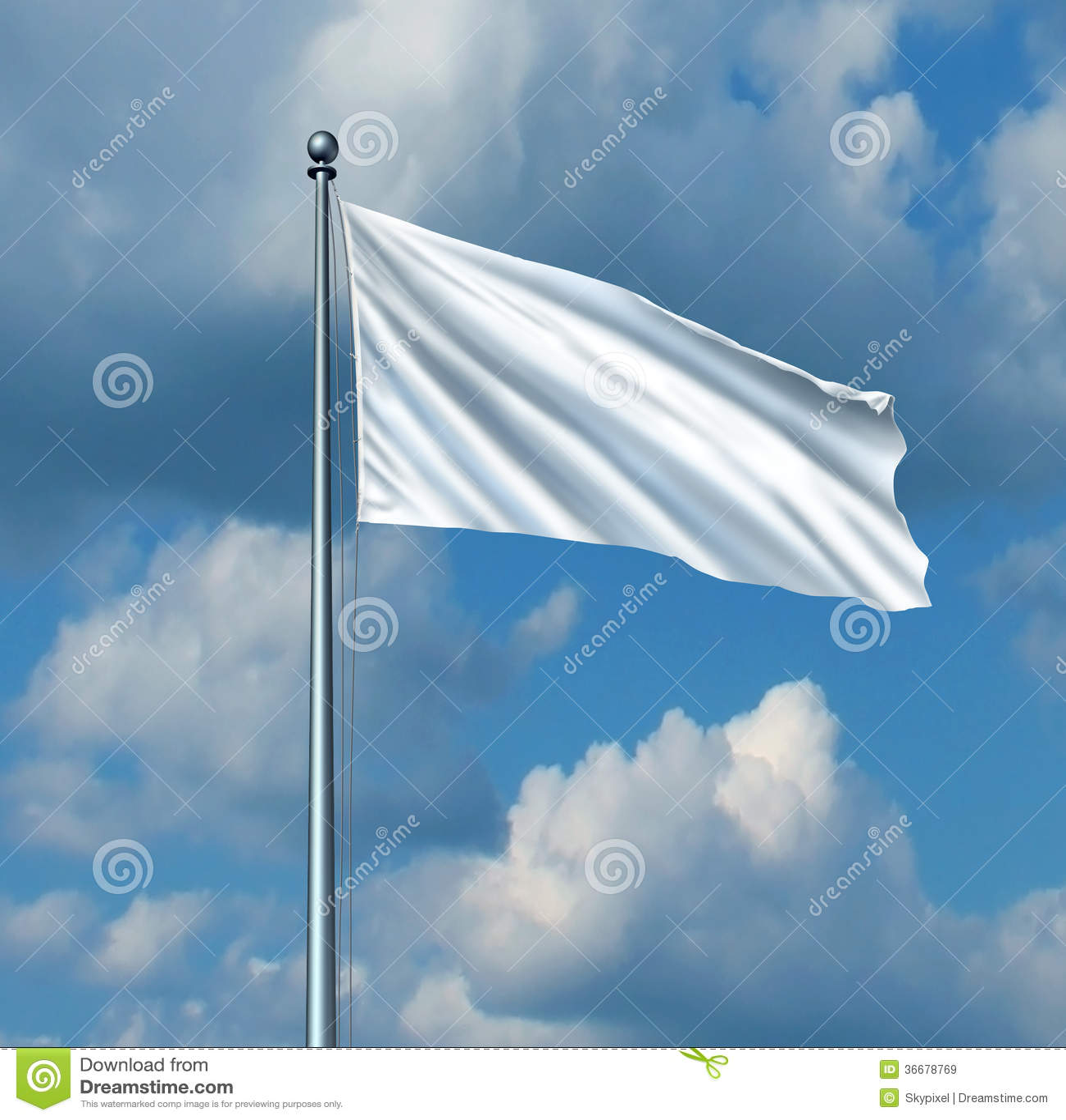 drapeau blanc illustration stock illustration du n gociez 36678769. Black Bedroom Furniture Sets. Home Design Ideas