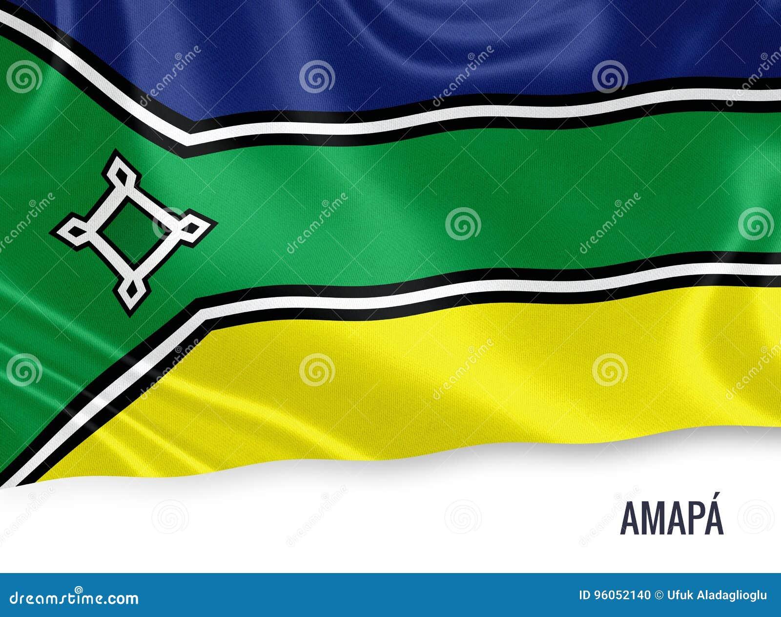 Drapeau brésilien d Amapa d état
