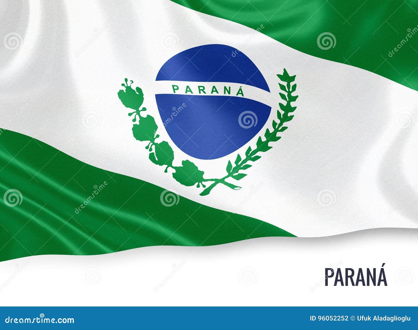 Drapeau brésilien de Parana d état