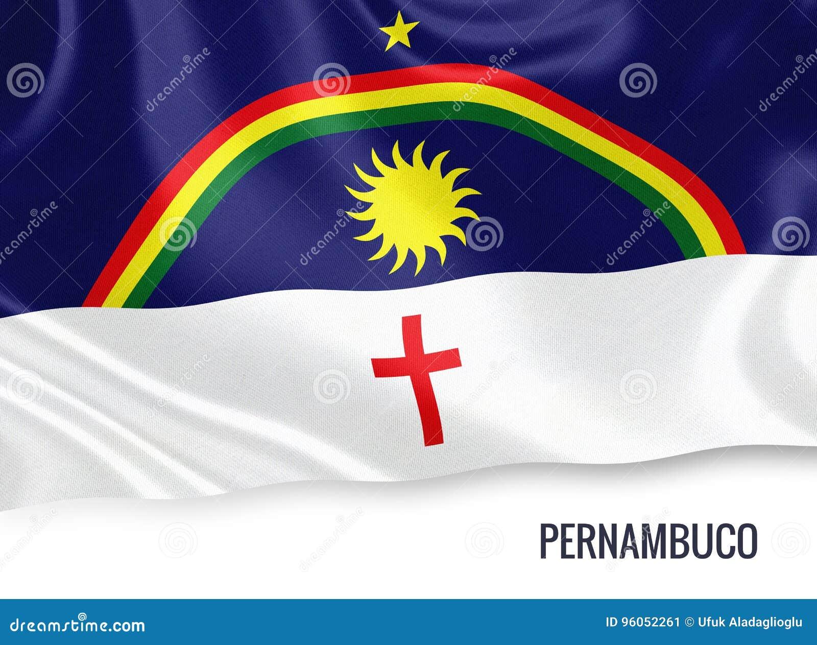Drapeau brésilien de Pernambuco d état