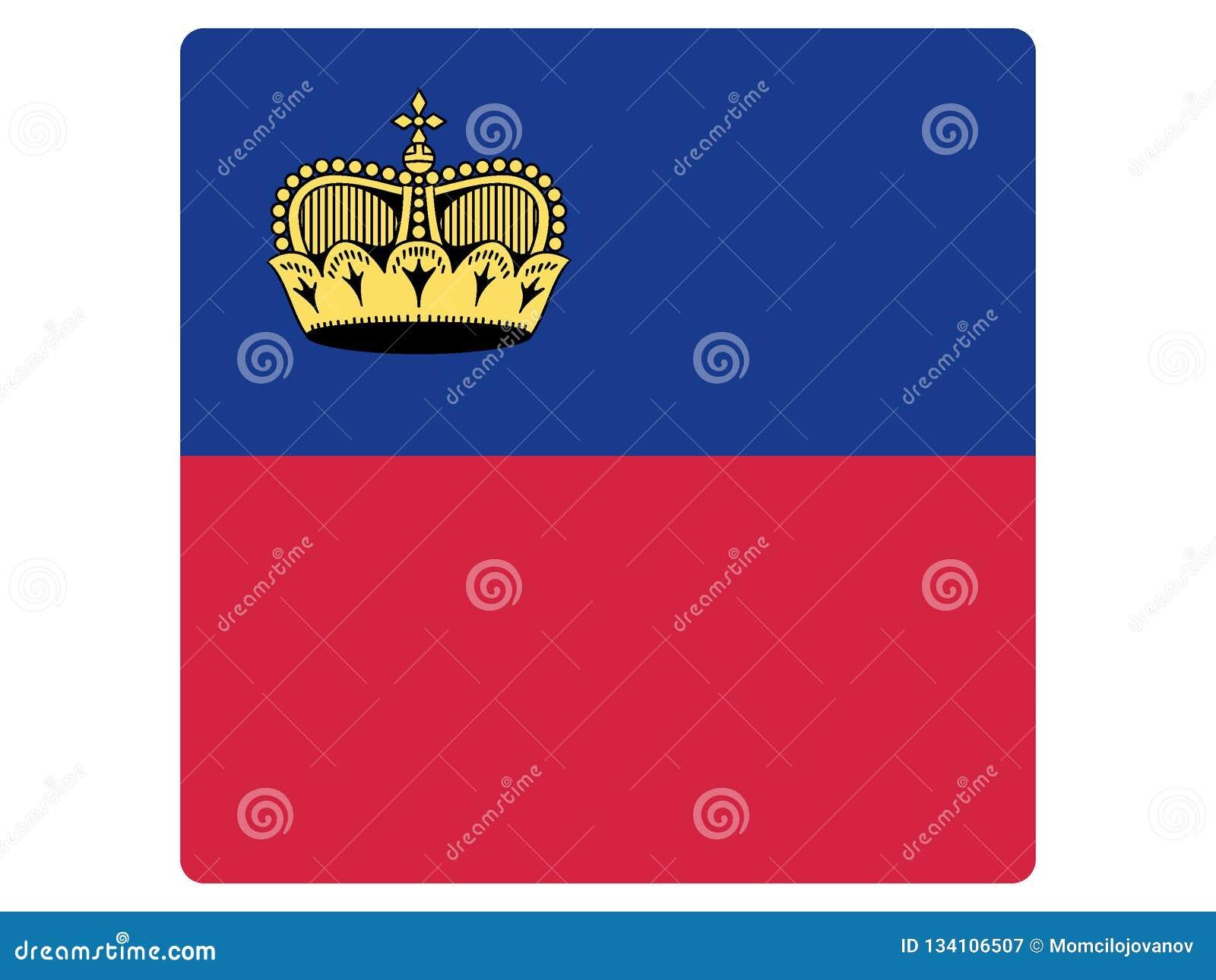 Drapeau carré de la Liechtenstein