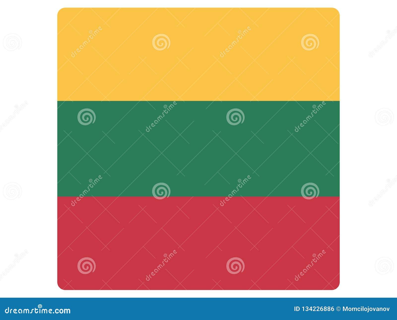 Drapeau carré de la Lithuanie