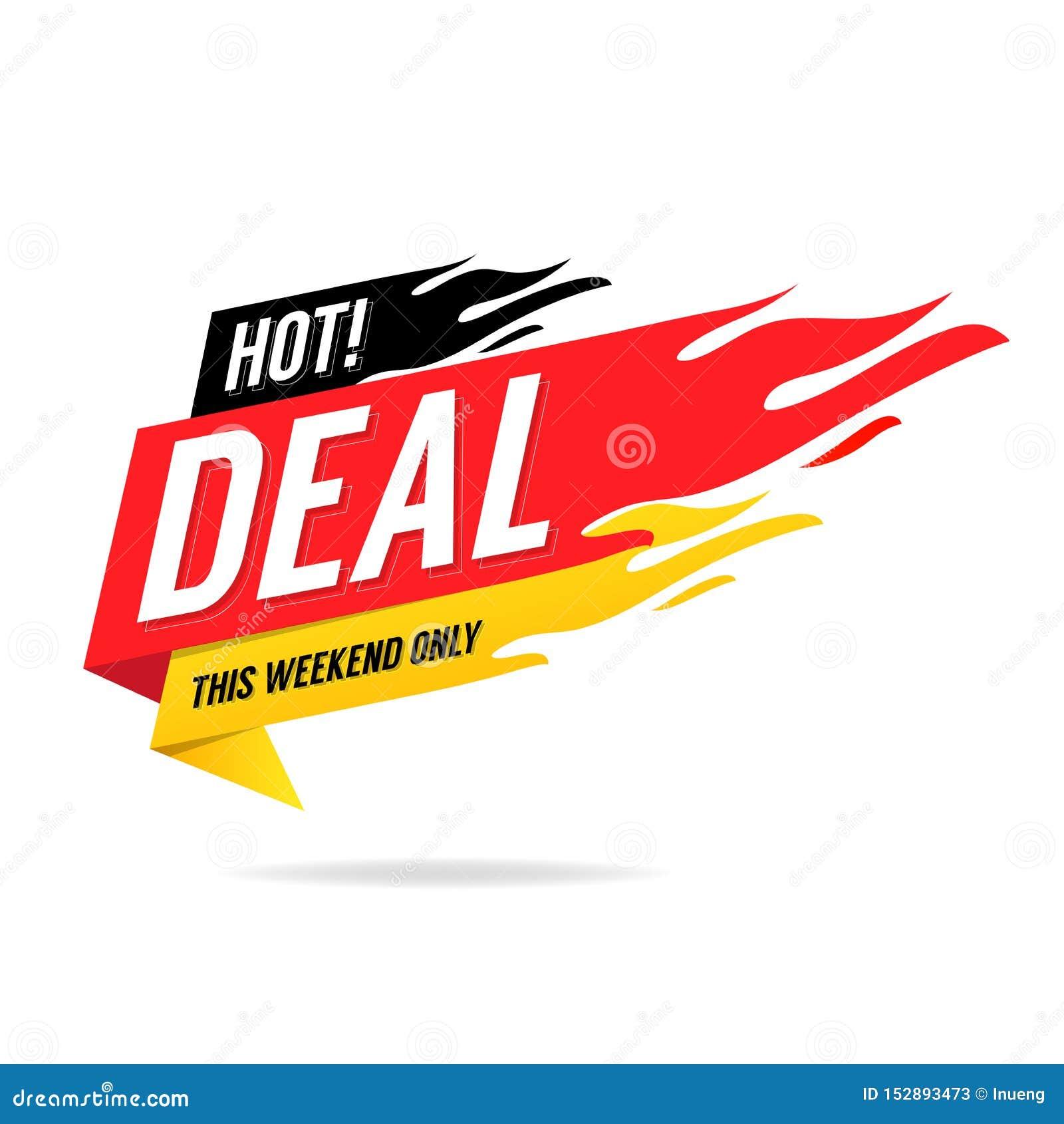 Drapeau chaud d affaire Ce week-end seulement, grande vente, remise
