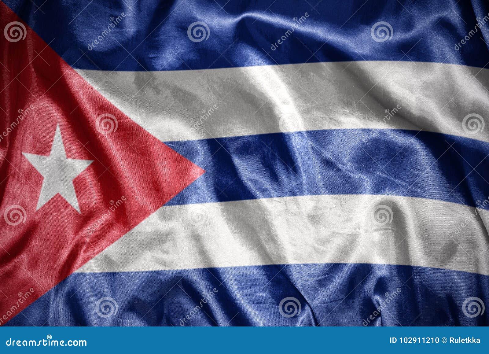 Drapeau cubain brillant