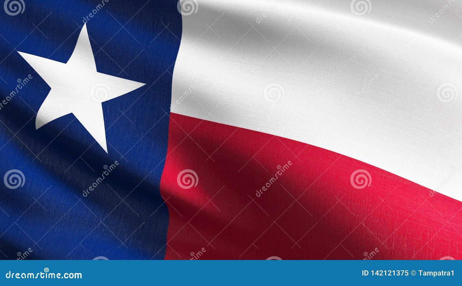 Drapeau d état du Texas aux Etats-Unis d Amérique, Etats-Unis, soufflant dans le vent d isolement Conception abstraite patriotiqu