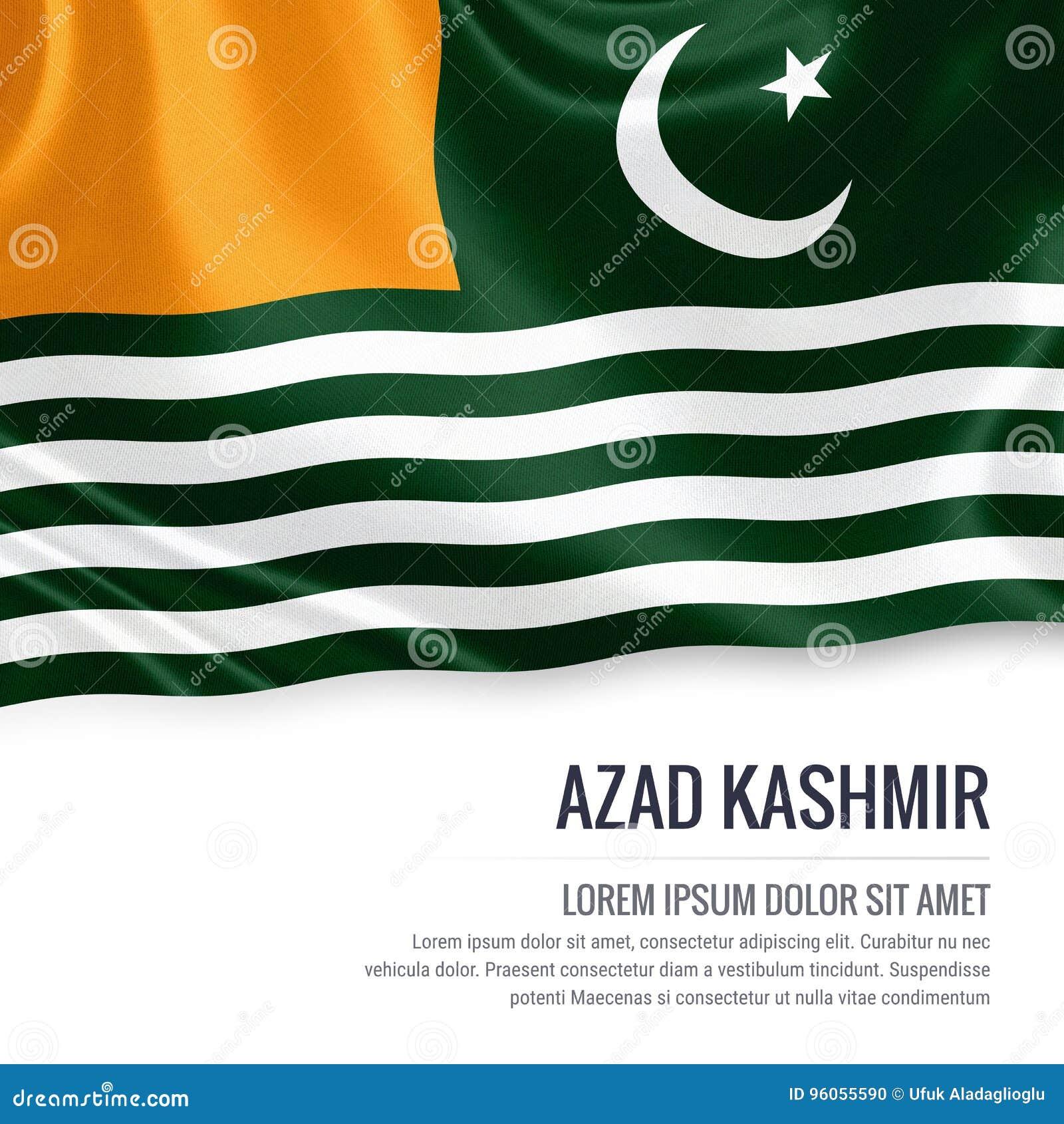 Drapeau d Azad Kashmir d état du Pakistan