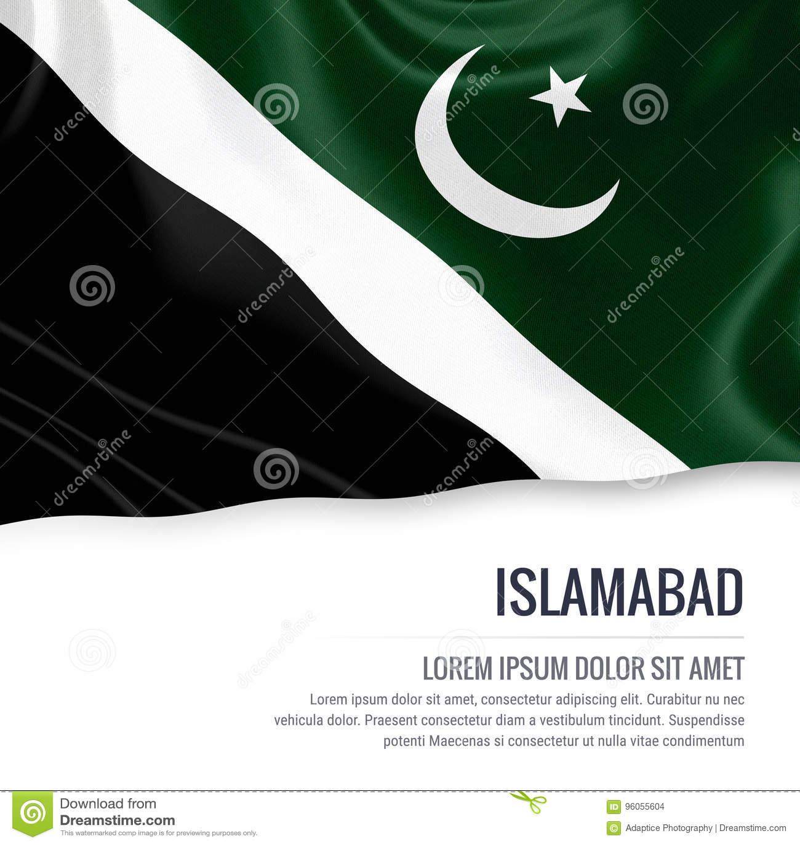 Drapeau d Islamabad d état du Pakistan