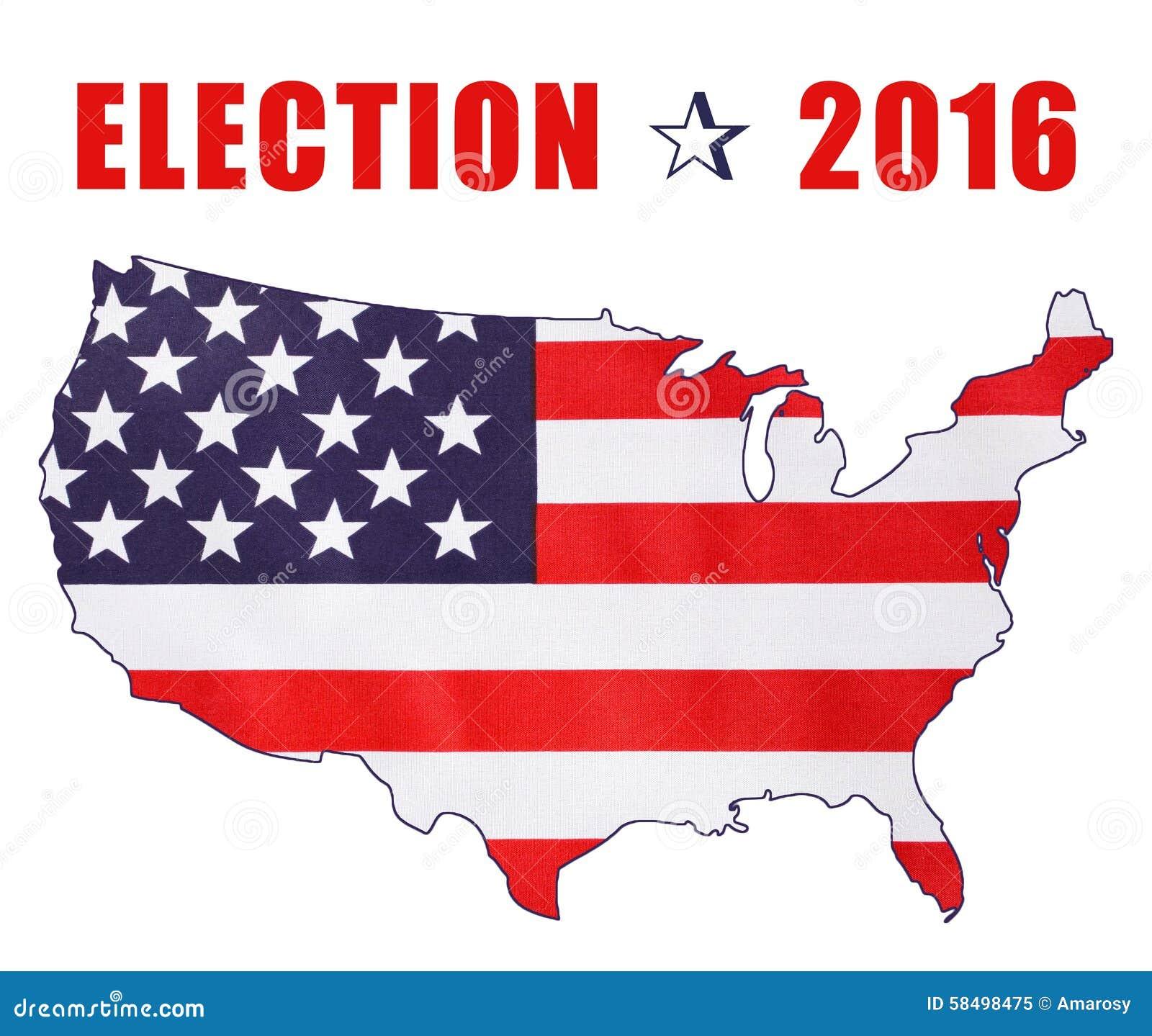 Drapeau d 39 lection pr sidentielle des etats unis 2016 photo stock image 58498475 - Election presidentielle etats unis ...