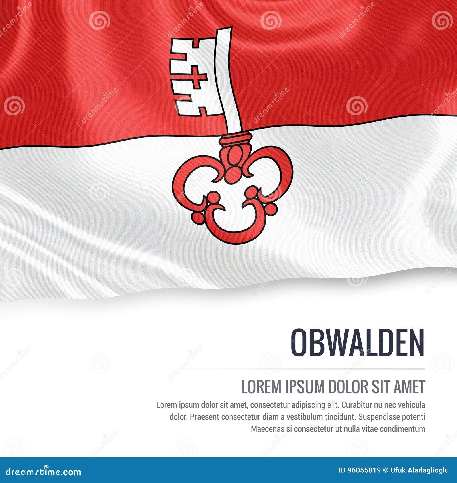 Drapeau d Obwald d état de la Suisse