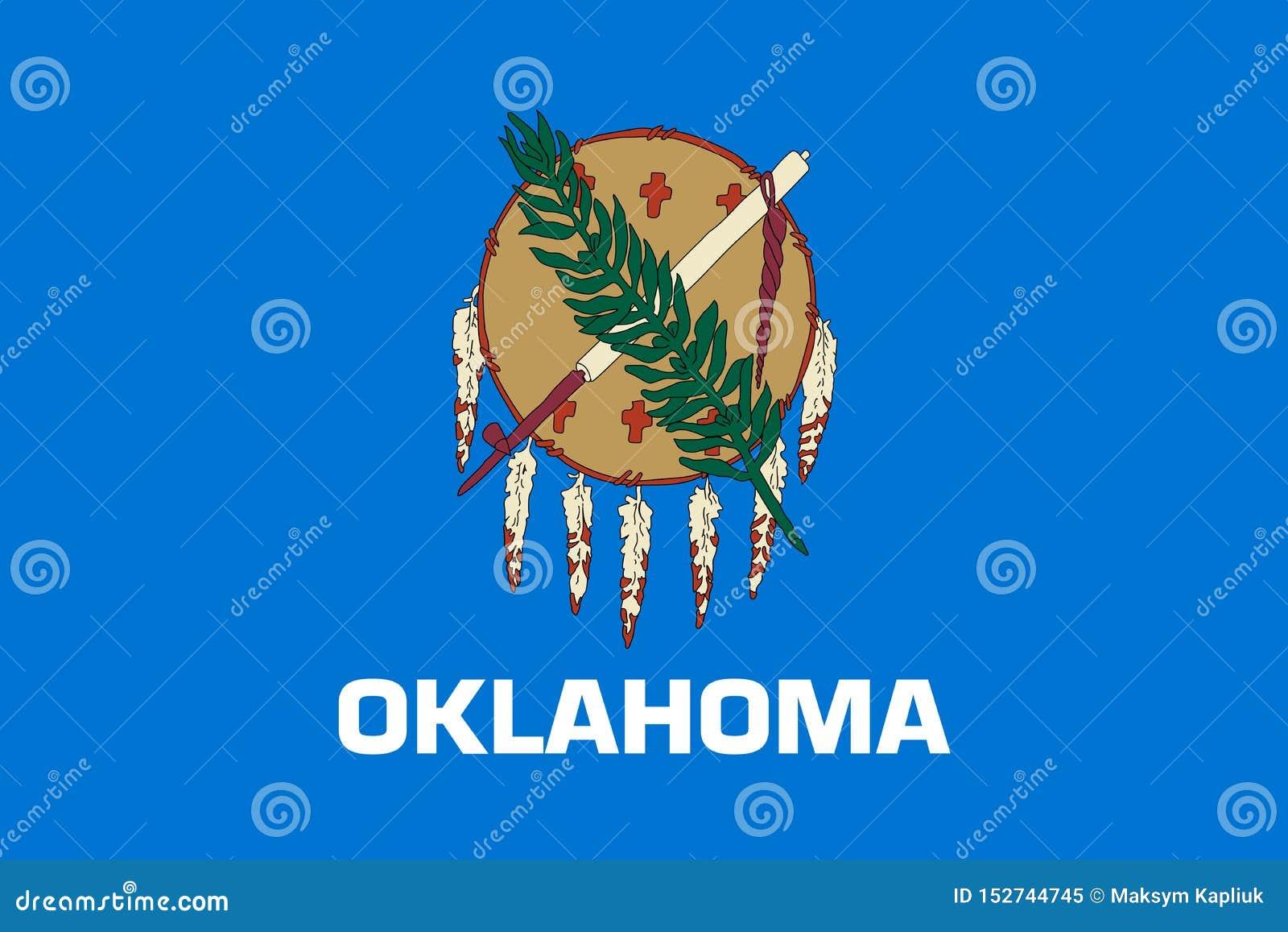 Drapeau d ?tat de l Oklahoma Illustration de vecteur