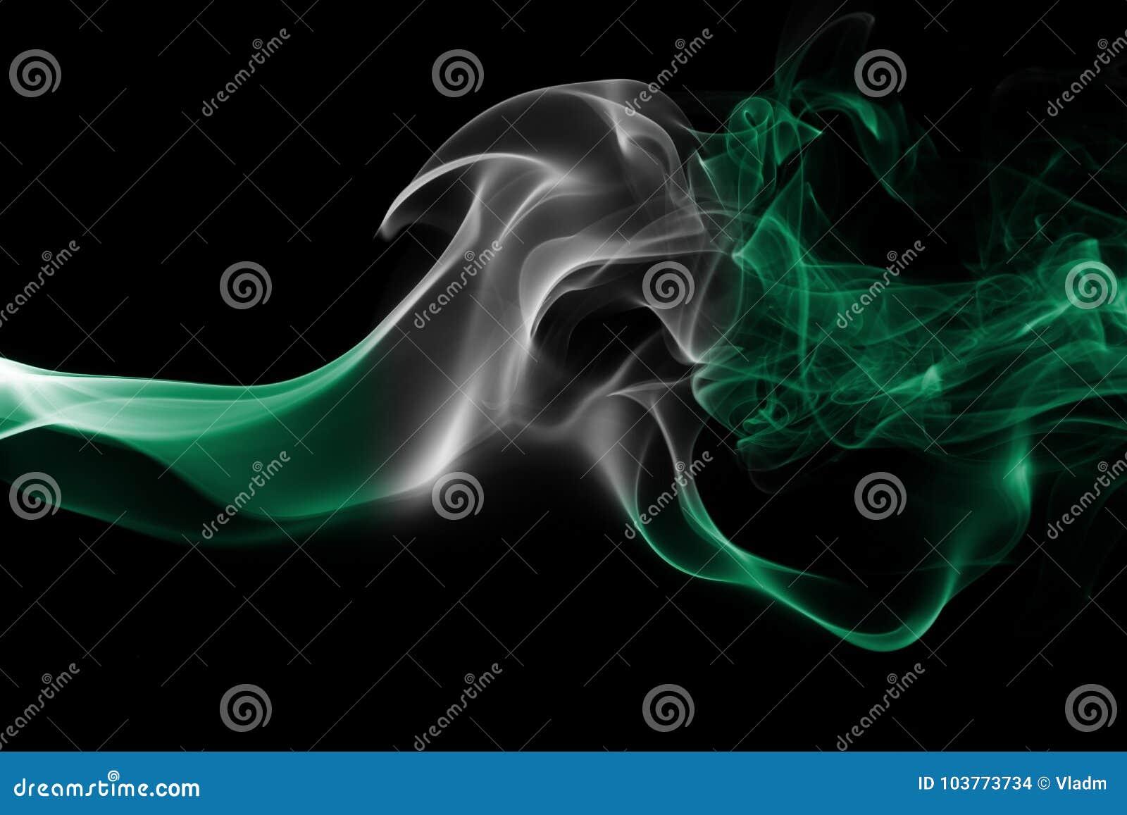 Drapeau de fumée du Nigéria