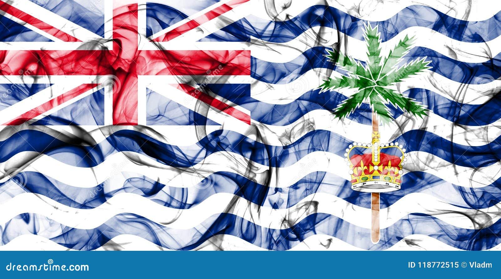Drapeau de fumée de territoire d Océan Indien britannique, territoires d outre-mer britanniques, drapeau de territoire non autono
