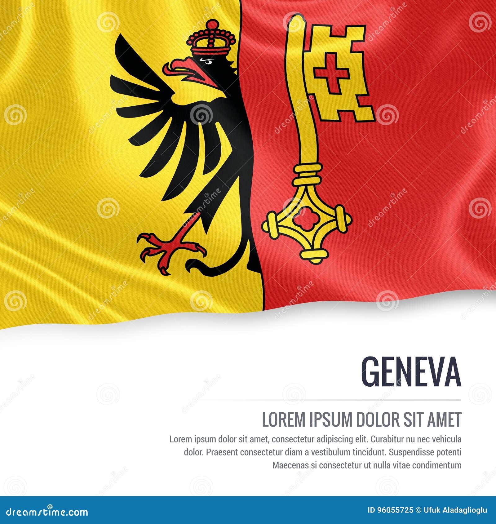 Drapeau de Genève d état de la Suisse