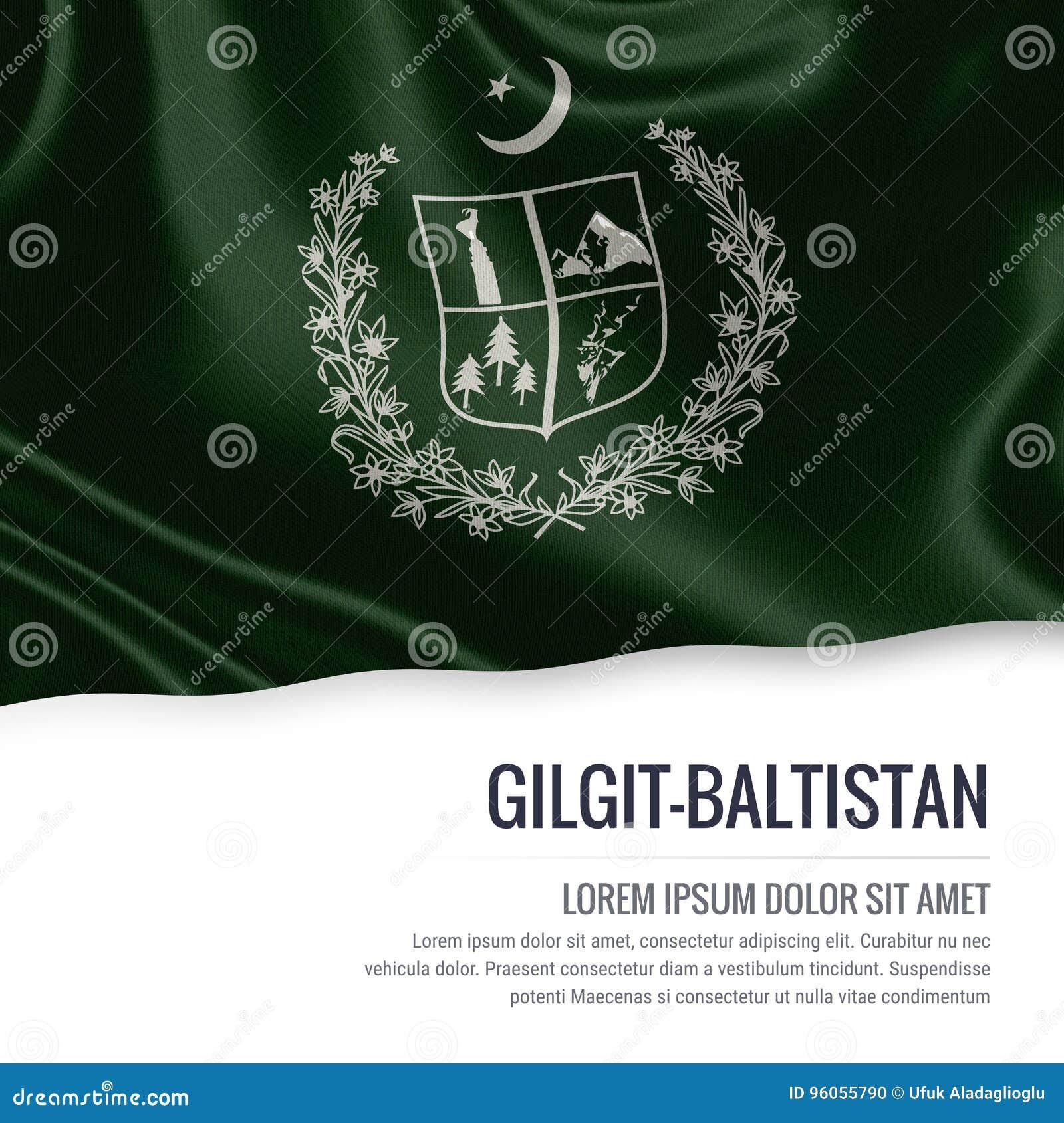 Drapeau de Gilgit-Baltistan d état du Pakistan