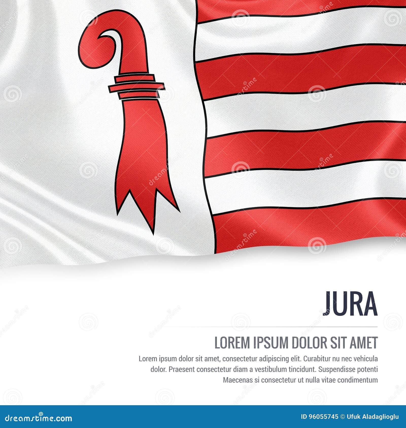 Drapeau de Jura d état de la Suisse