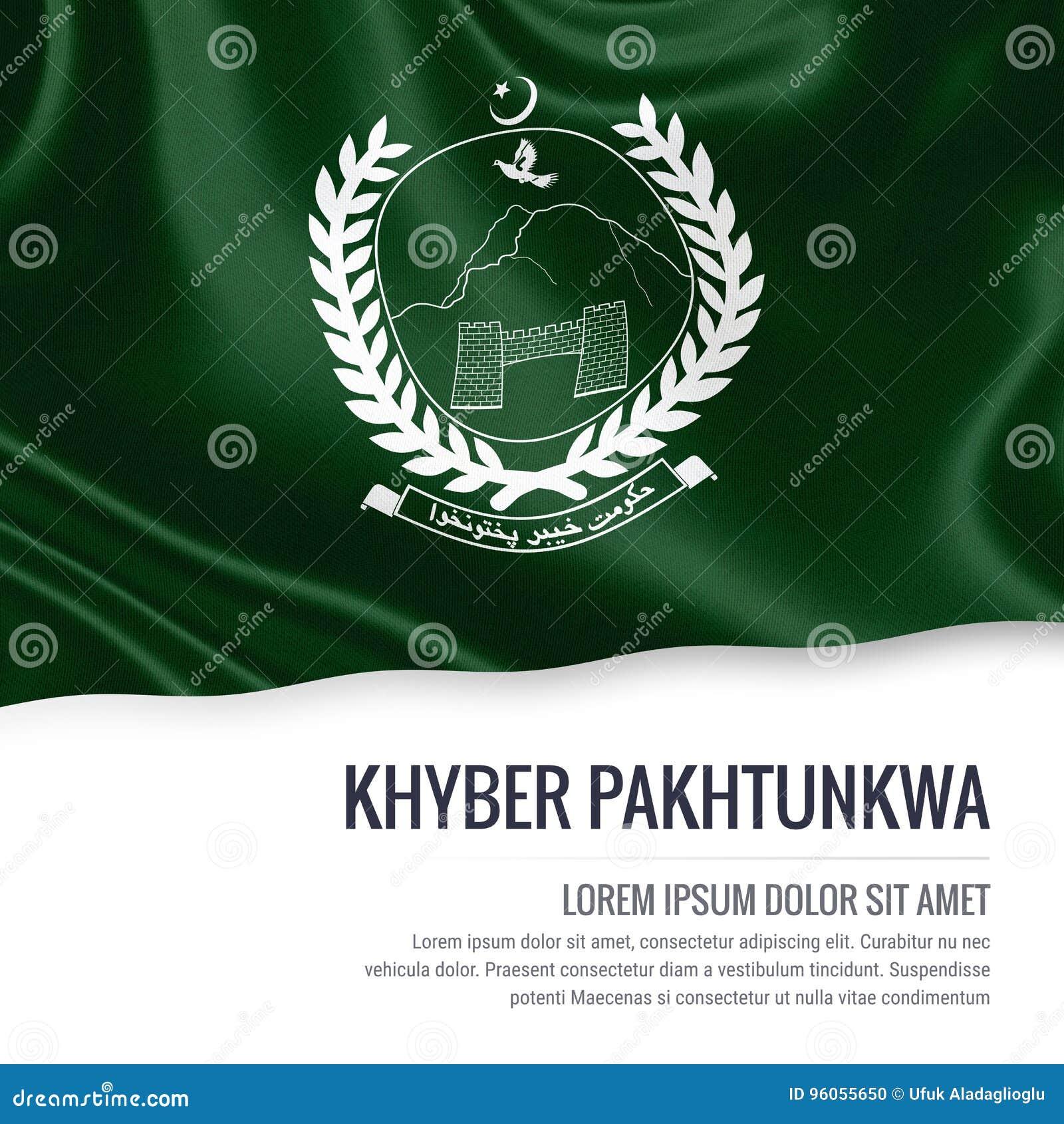 Drapeau de Khyber Pakhtunkwa d état du Pakistan