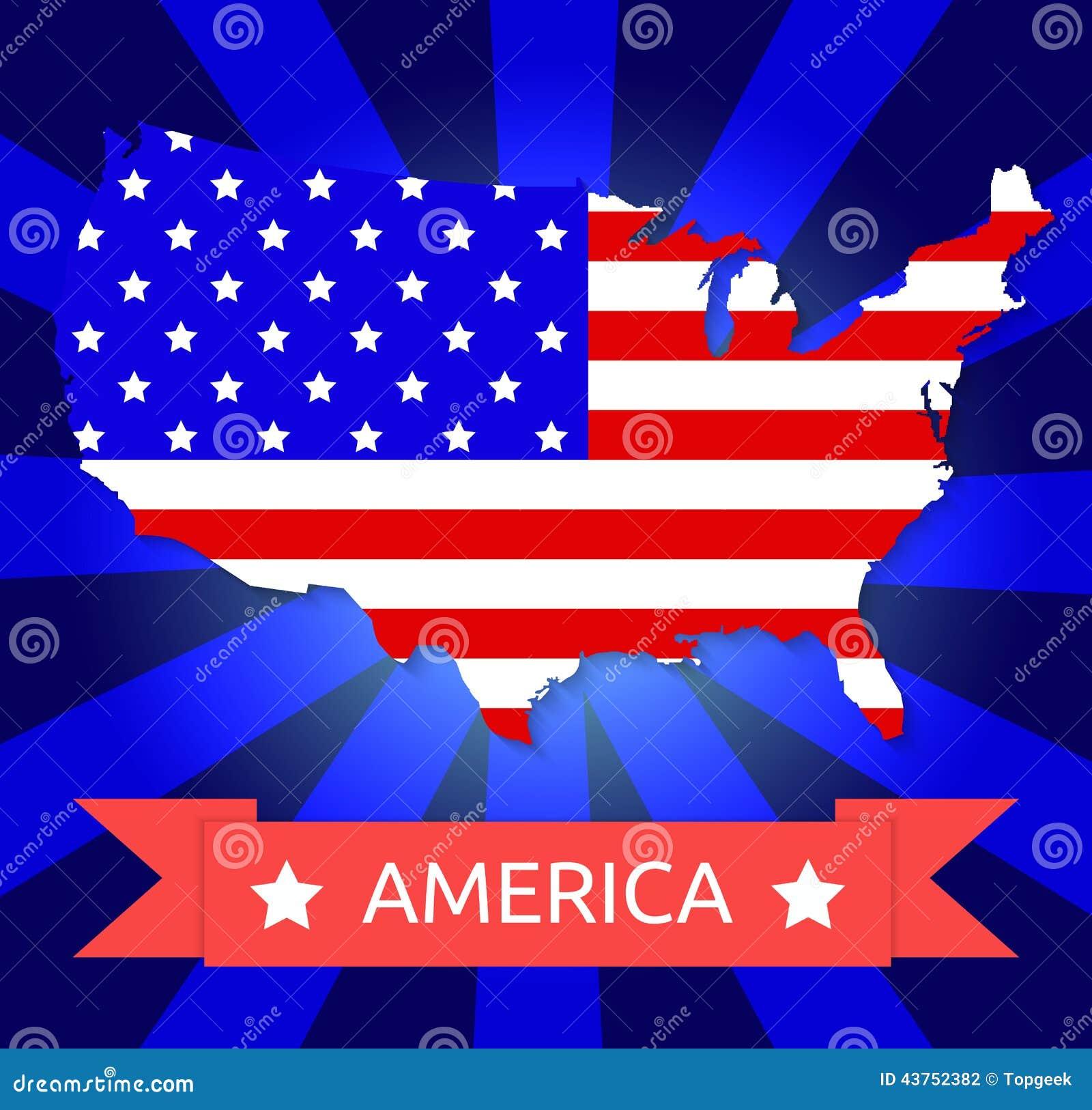 Drapeau de l 39 am rique sur le territoire am ricain illustration de vecteur image 43752382 - Drapeau de l amerique ...