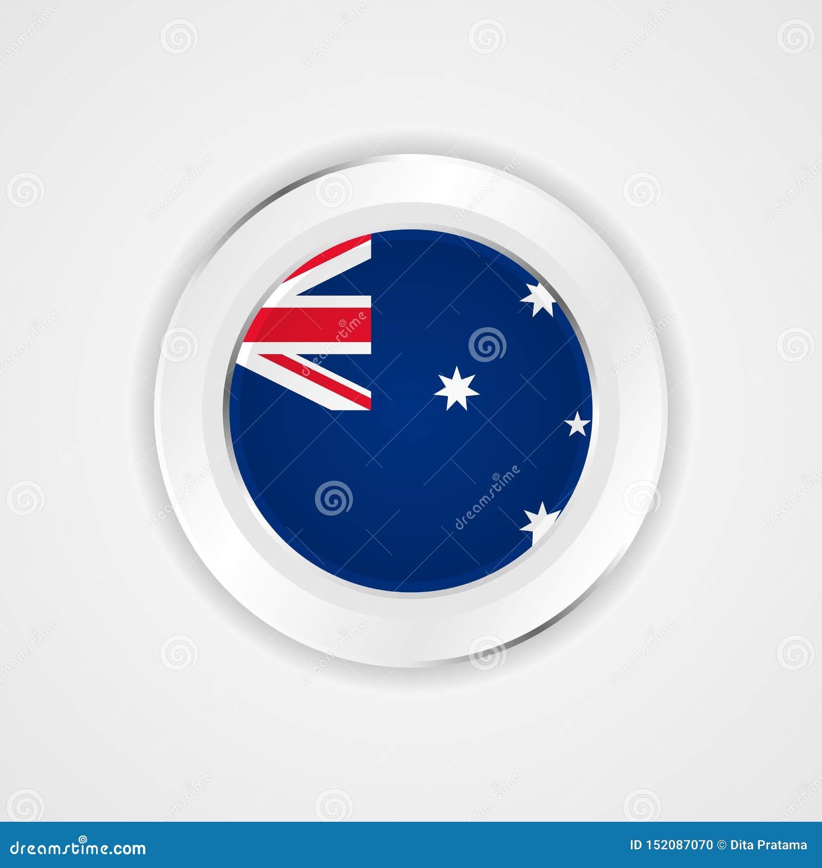 Drapeau de l Australie dans l icône brillante