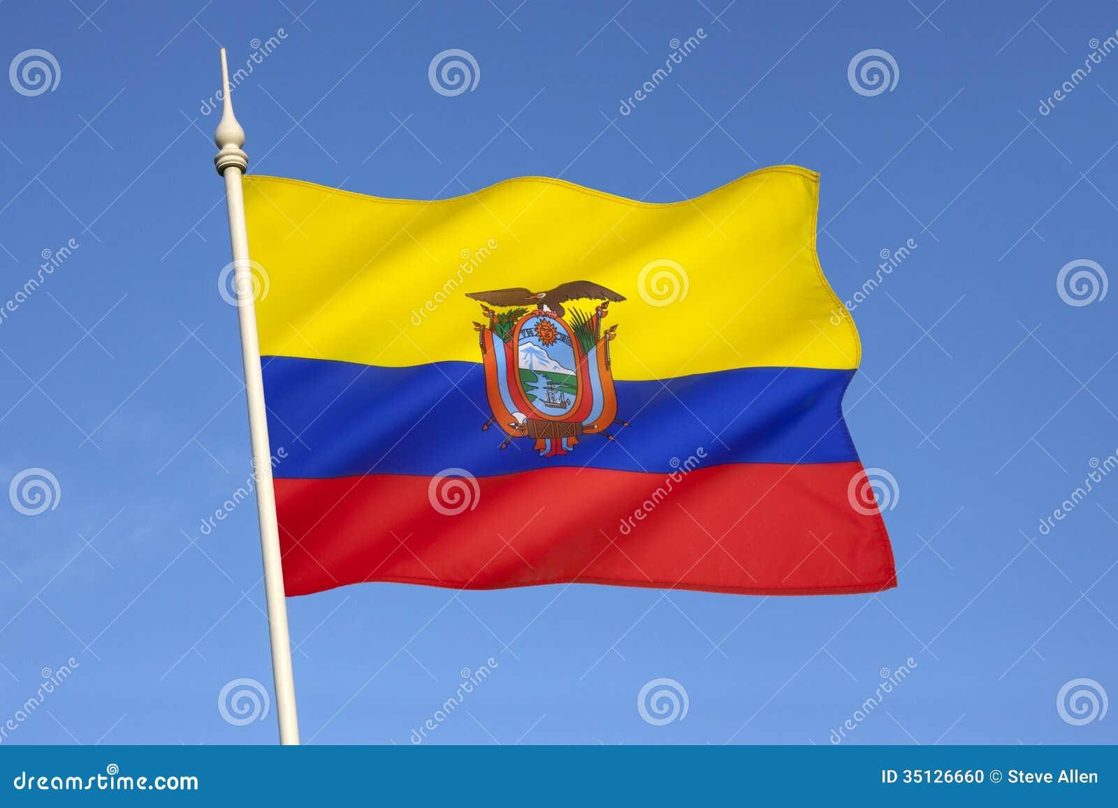 Drapeau de l 39 equateur l 39 am rique du sud photo stock image 35126660 - Drapeau de l amerique ...