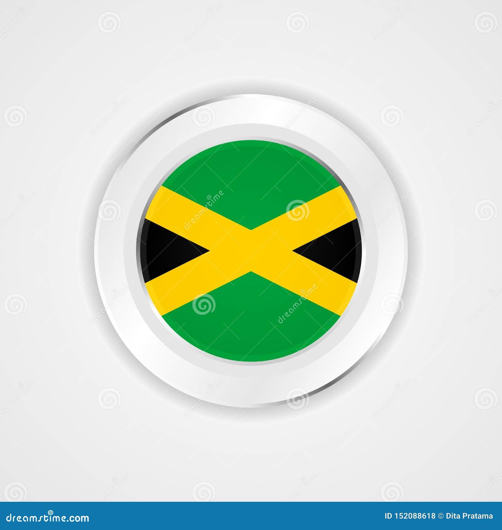 Drapeau de la Jamaïque dans l icône brillante