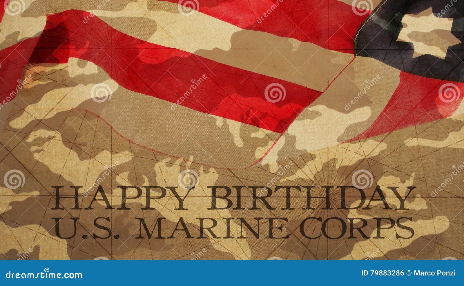 Drapeau De Marines De Joyeux Anniversaire Photo Stock Image Du