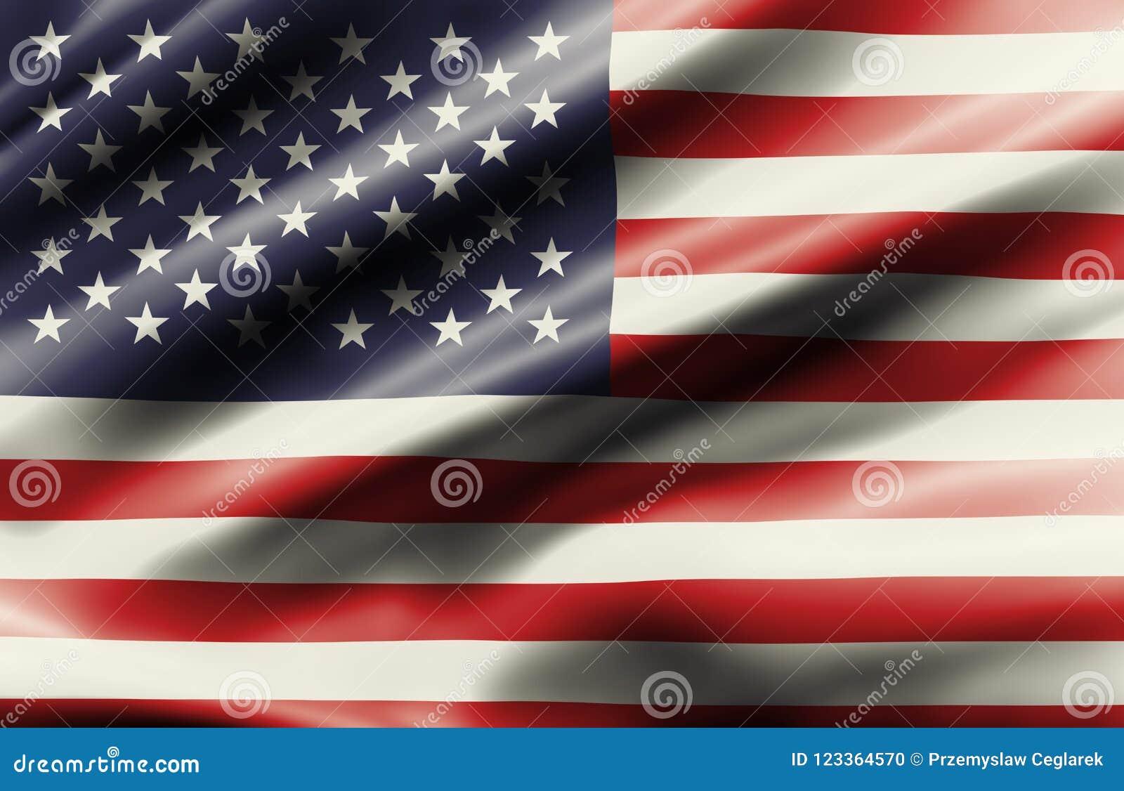 Drapeau de ondulation d état uni de l Amérique
