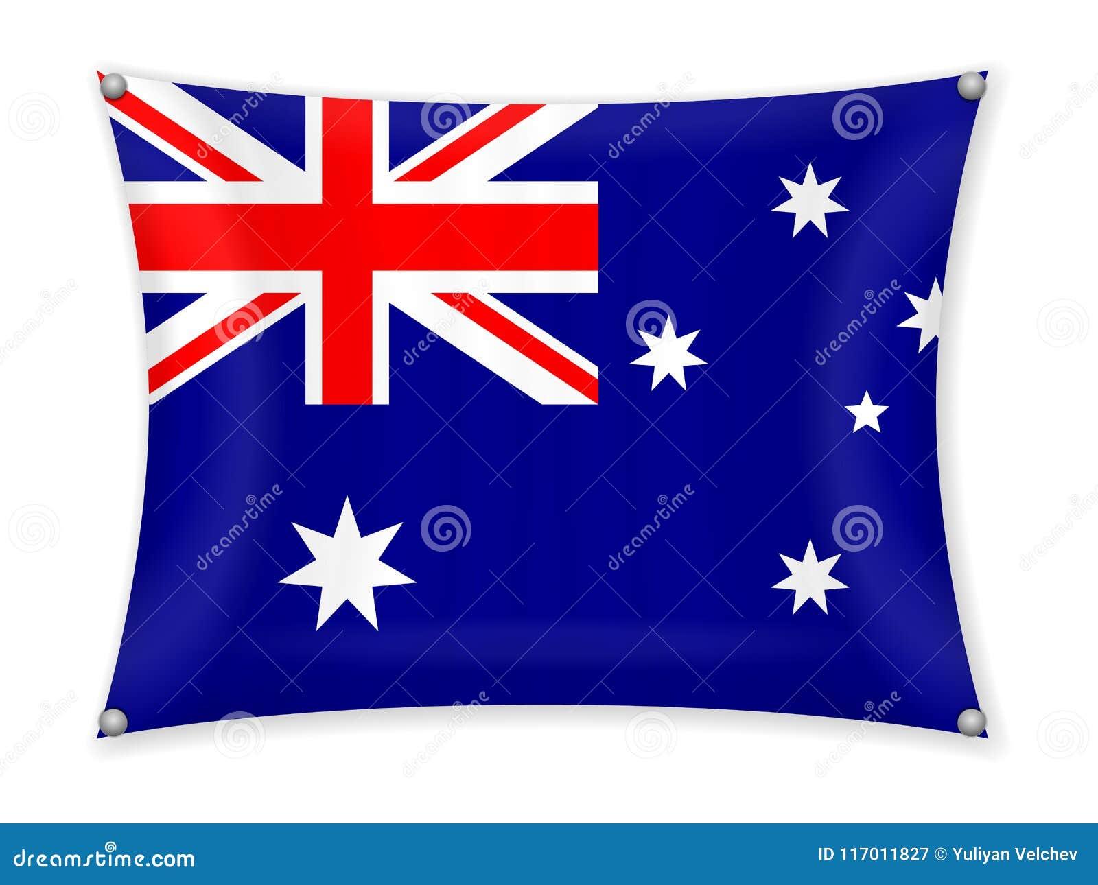 Drapeau de ondulation d Australie