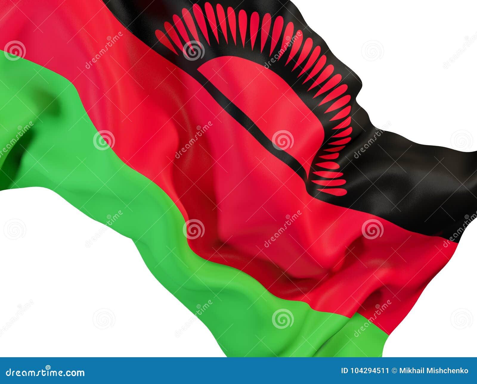 Drapeau de ondulation du Malawi