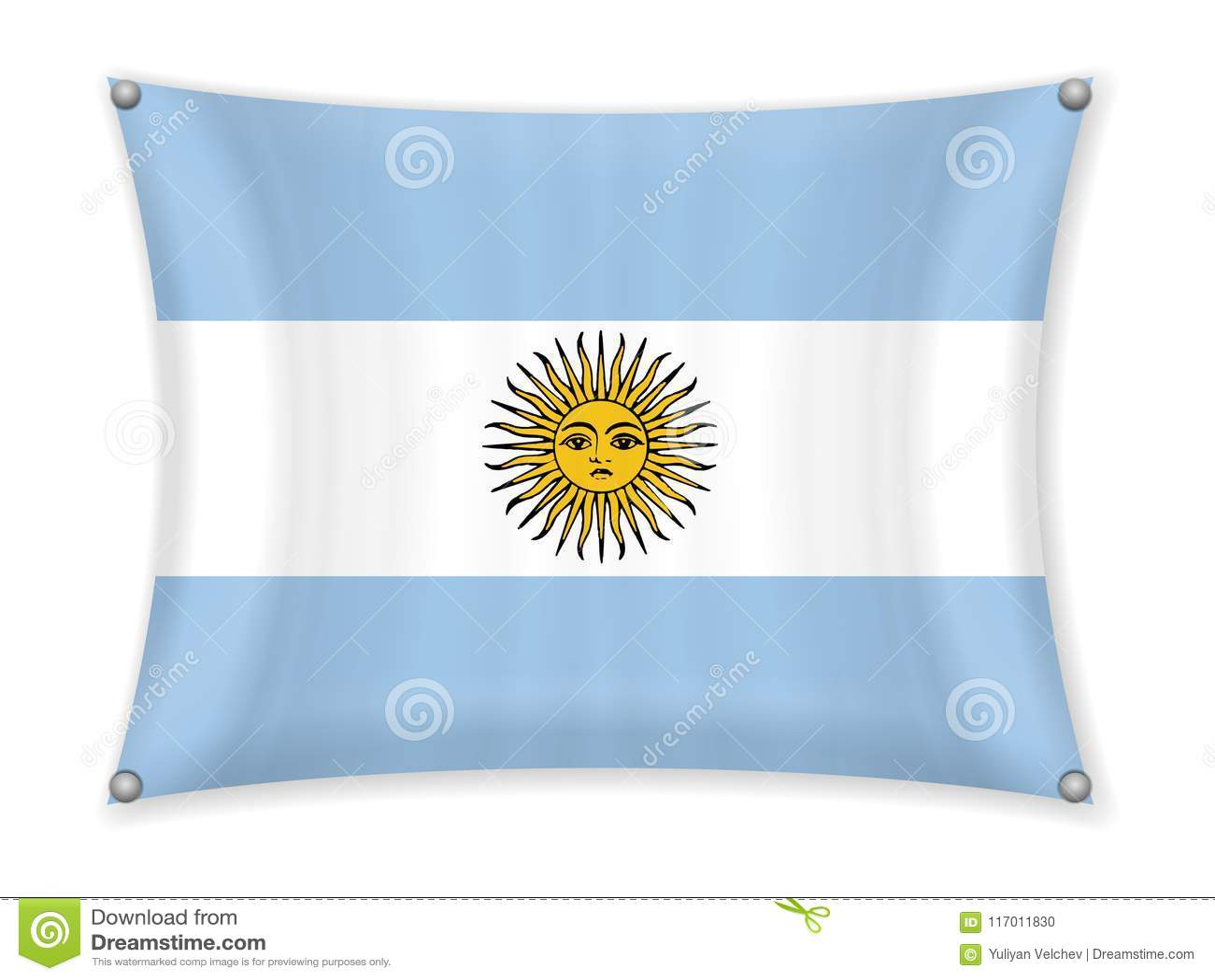 Drapeau de ondulation de l Argentine