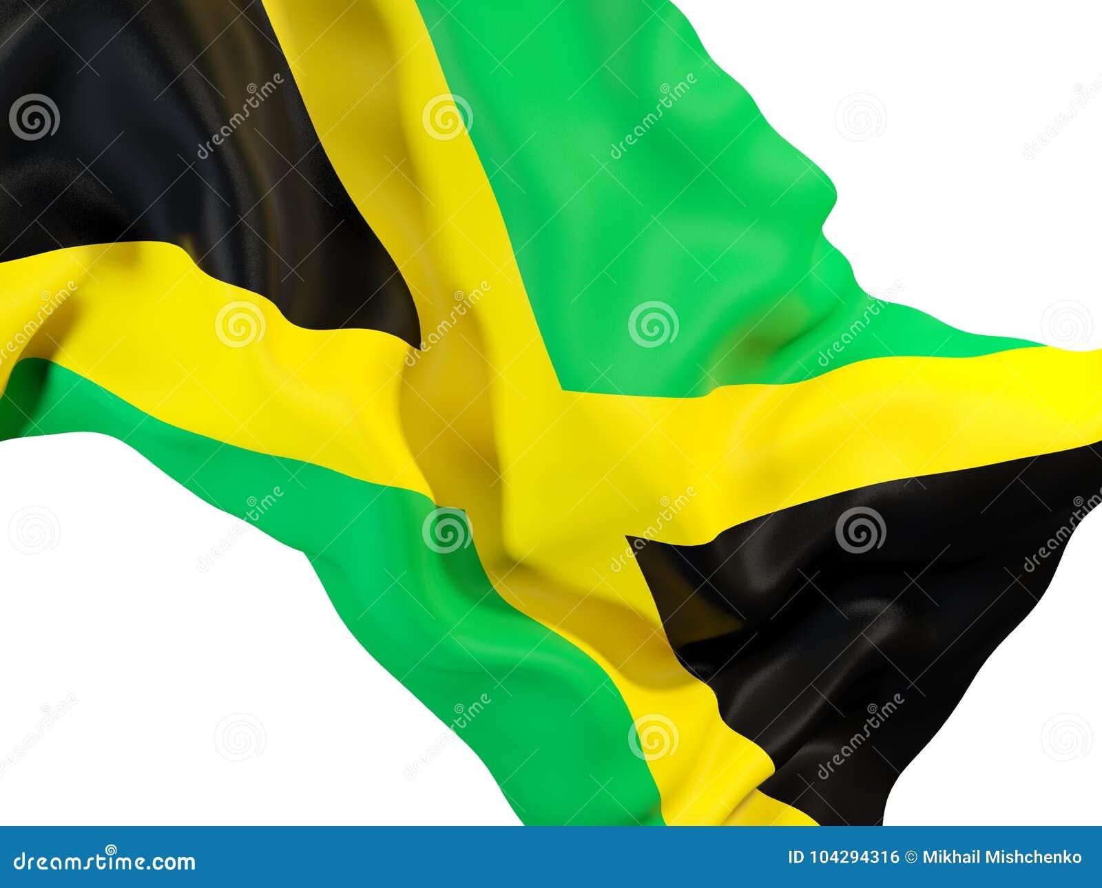 Drapeau de ondulation de la Jamaïque